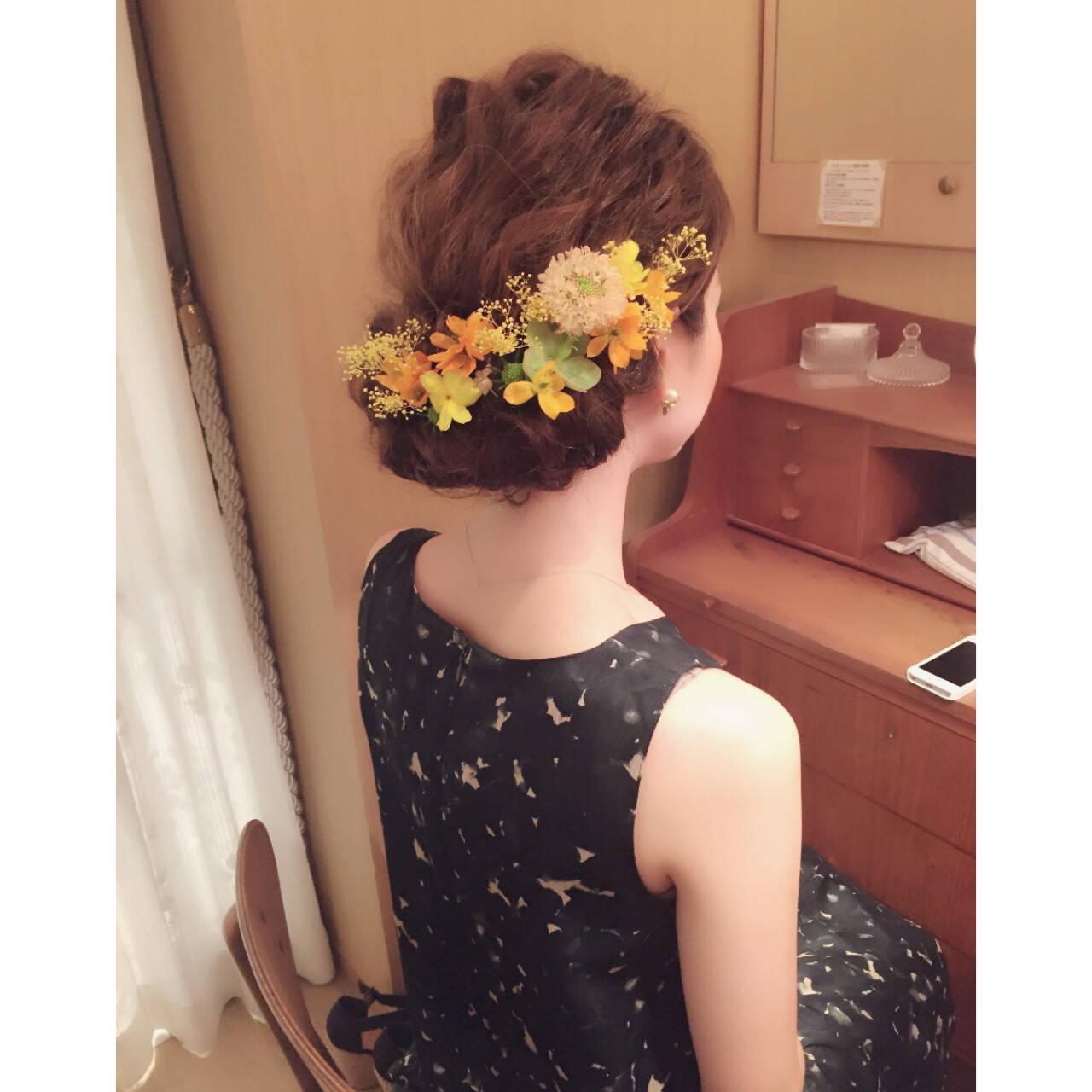ヘアアレンジ ショート ミディアム 大人かわいいヘアスタイルや髪型の写真・画像