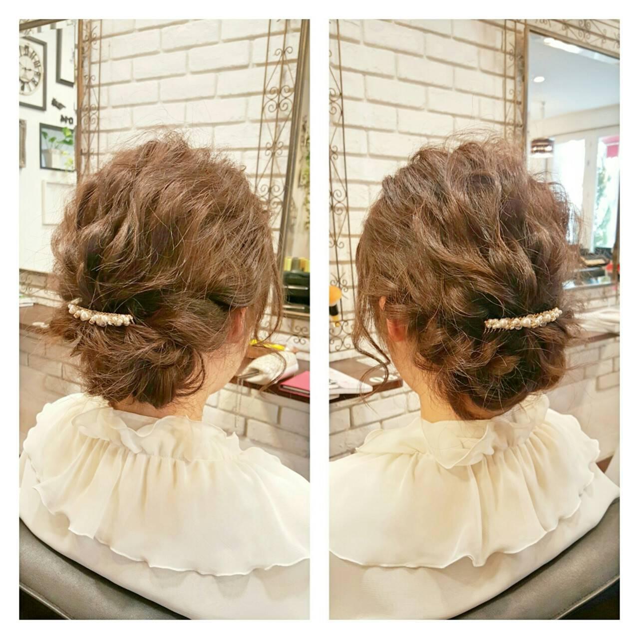ゆるふわ ヘアアレンジ ミディアム 外国人風ヘアスタイルや髪型の写真・画像