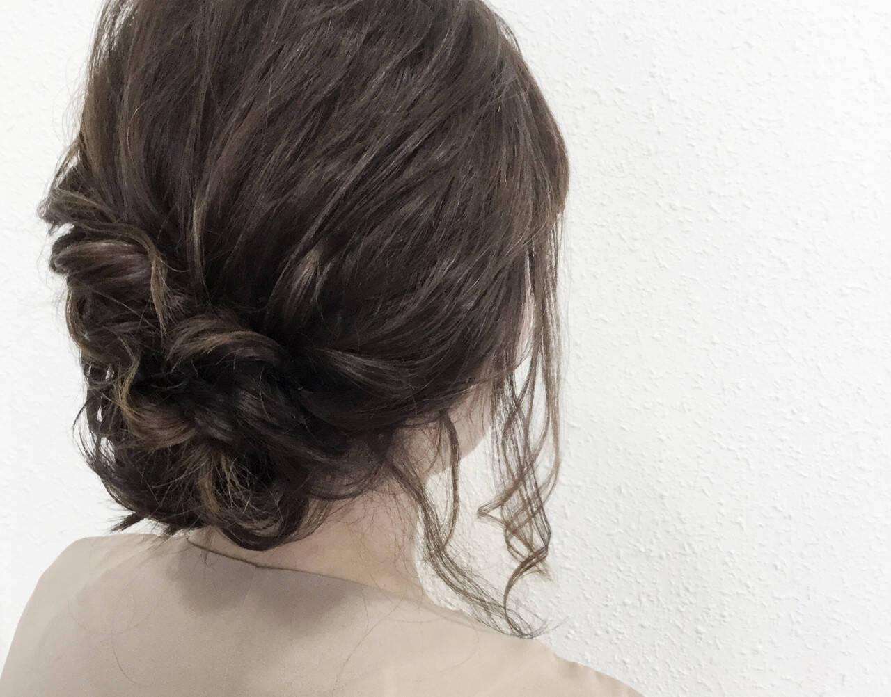 ヘアアレンジ 大人かわいい 二次会 セミロングヘアスタイルや髪型の写真・画像