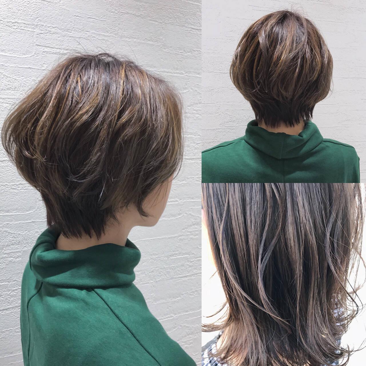 こなれ感 かわいい ショート ナチュラルヘアスタイルや髪型の写真・画像