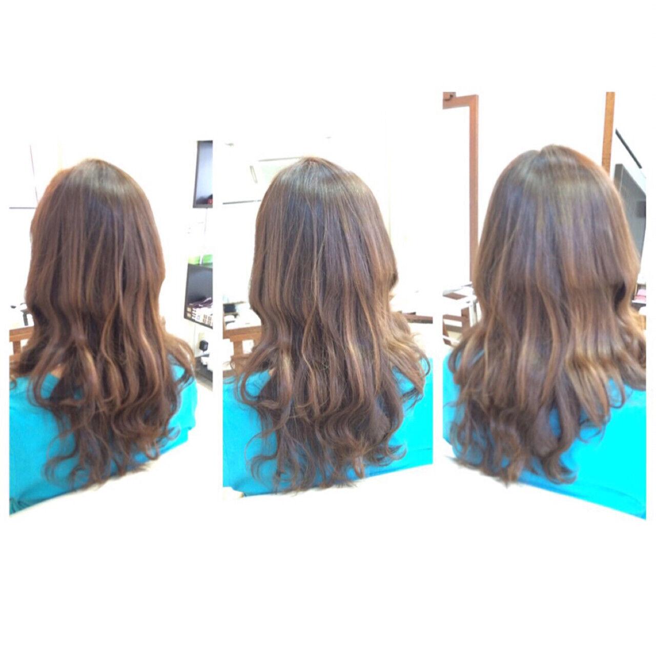 ミディアム 外国人風 ハイライト 簡単ヘアアレンジヘアスタイルや髪型の写真・画像