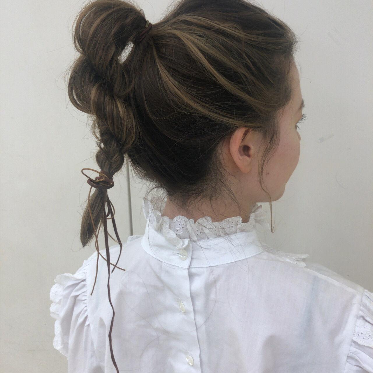 簡単ヘアアレンジ ヘアアレンジ フェミニン デートヘアスタイルや髪型の写真・画像