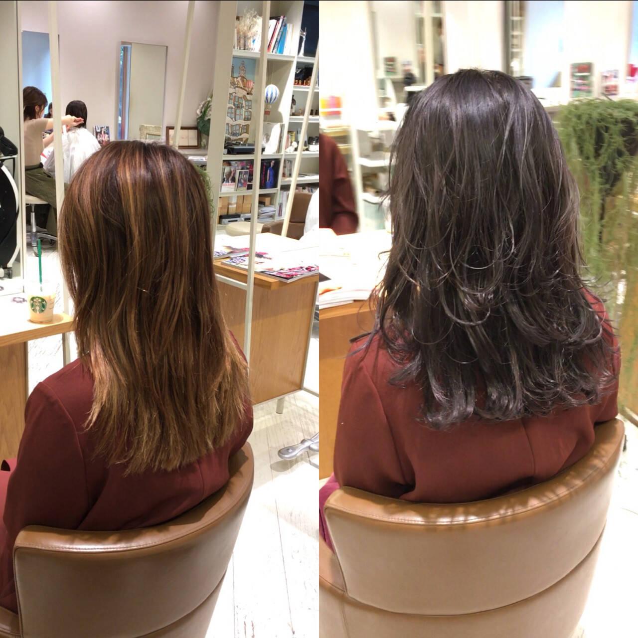 女子力 パープル ブリーチ バイオレットアッシュヘアスタイルや髪型の写真・画像