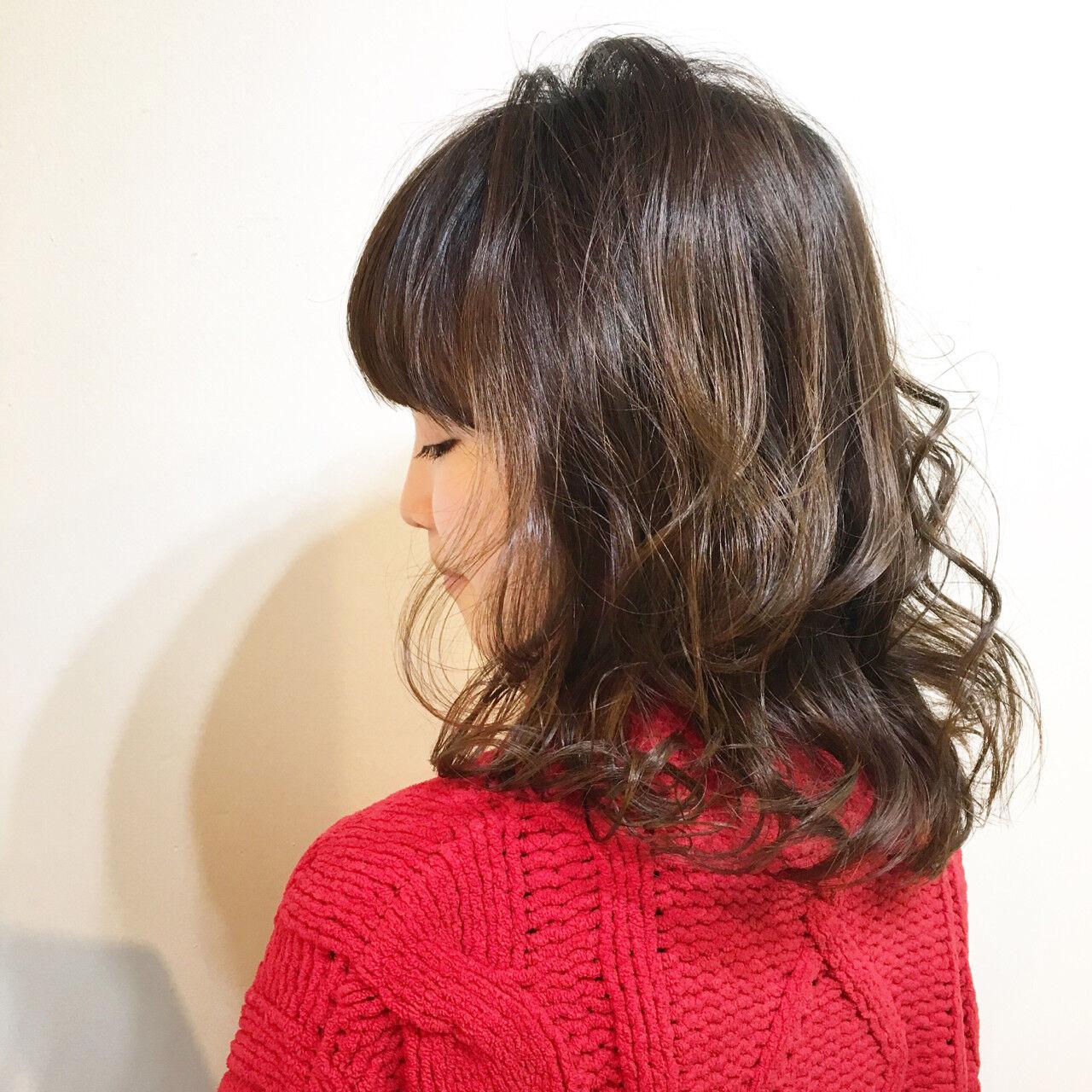 フリンジバング 色気 ボブ 大人女子ヘアスタイルや髪型の写真・画像