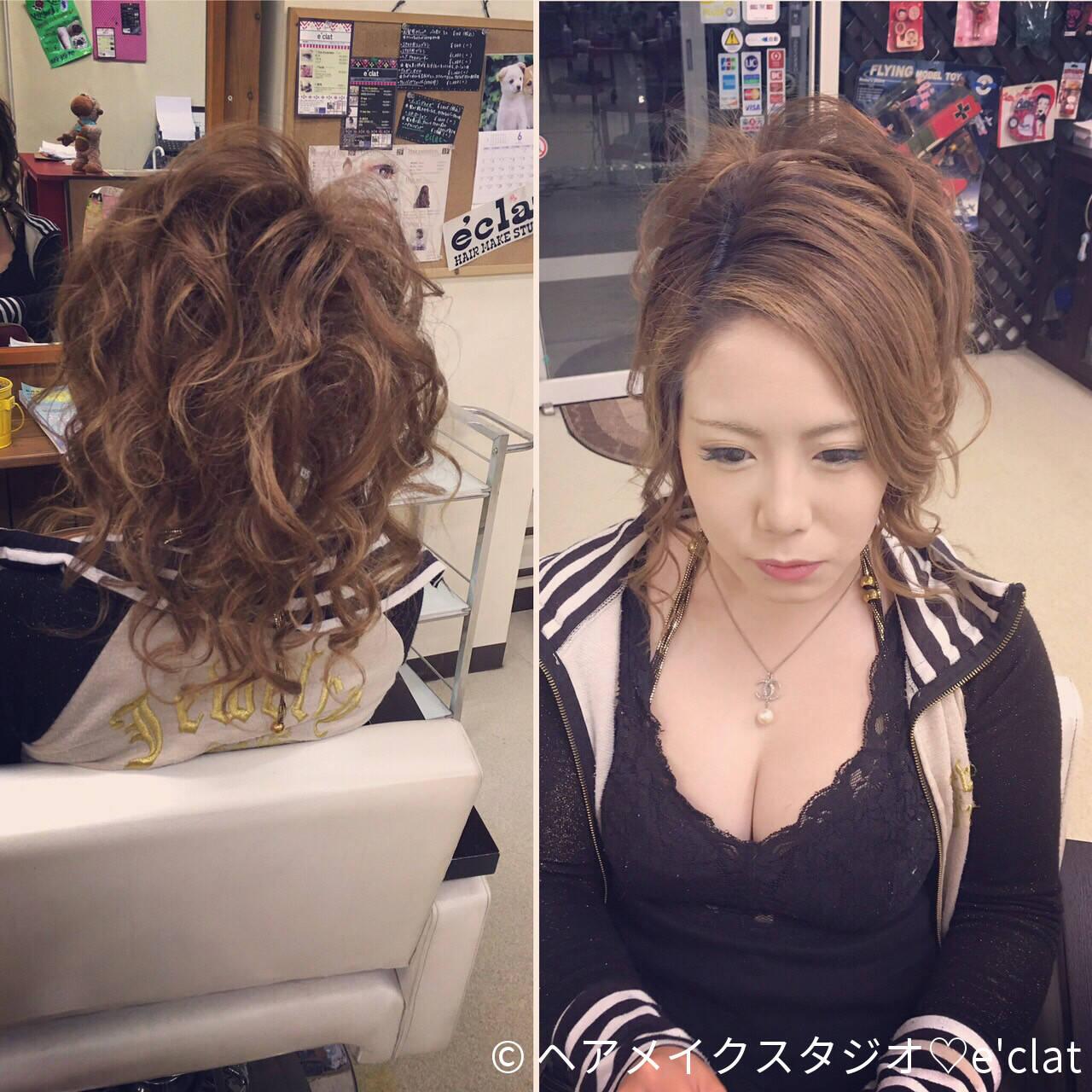 アップスタイル ヘアアレンジ ロング 渋谷系ヘアスタイルや髪型の写真・画像