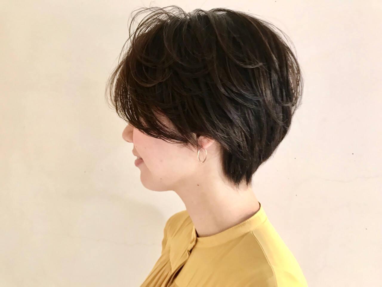 抜け感 ナチュラル アウトドア ショートボブヘアスタイルや髪型の写真・画像