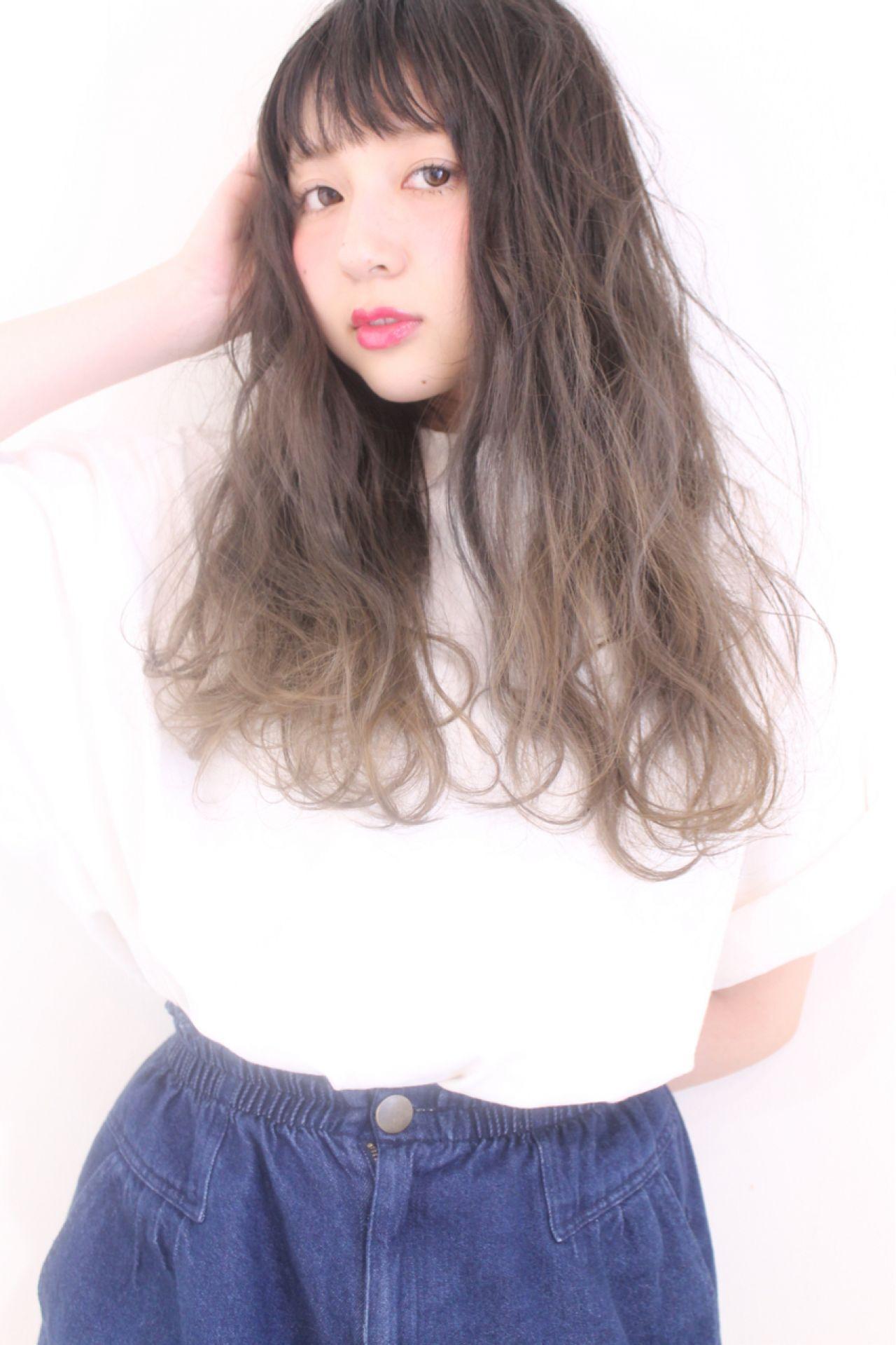 グラデーションカラー 愛され モテ髪 コンサバヘアスタイルや髪型の写真・画像