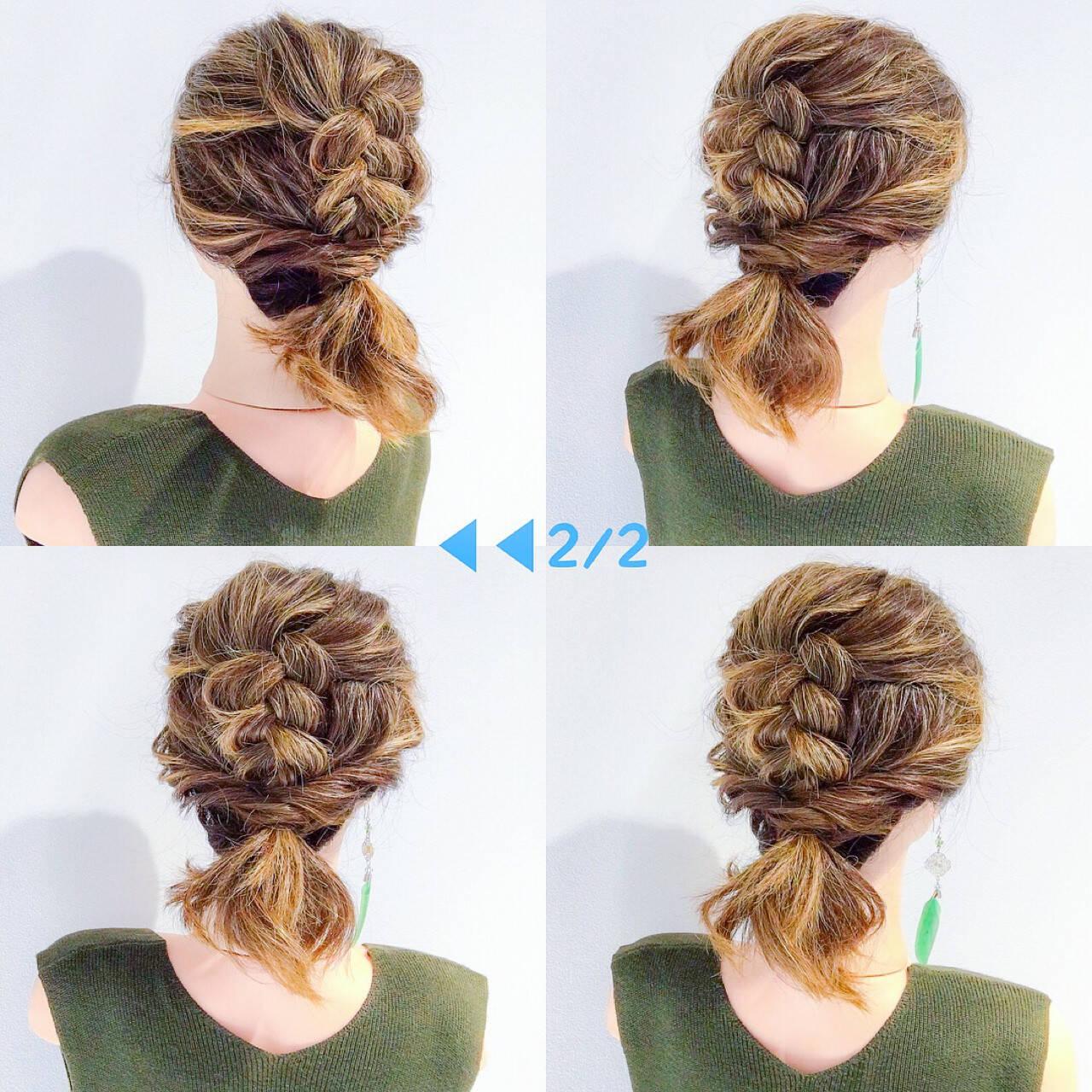 簡単ヘアアレンジ エレガント 上品 ボブヘアスタイルや髪型の写真・画像