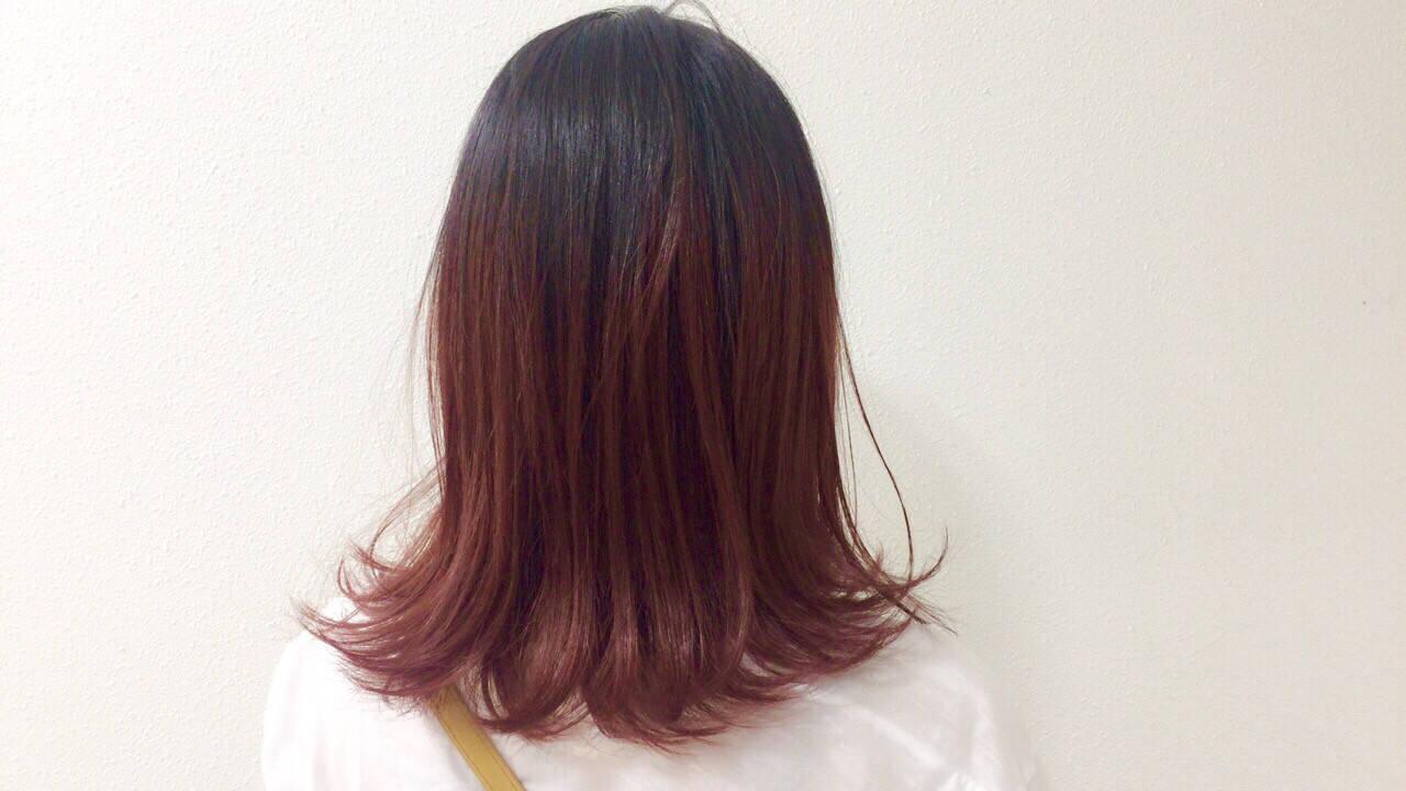 ナチュラル ピンク 透明感 フェミニンヘアスタイルや髪型の写真・画像