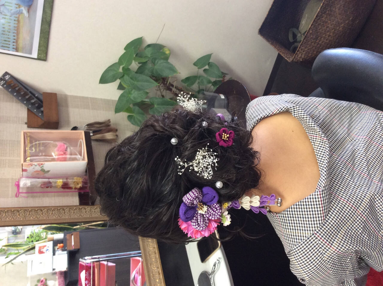 着物 成人式ヘア 成人式 成人式ヘアメイク着付けヘアスタイルや髪型の写真・画像