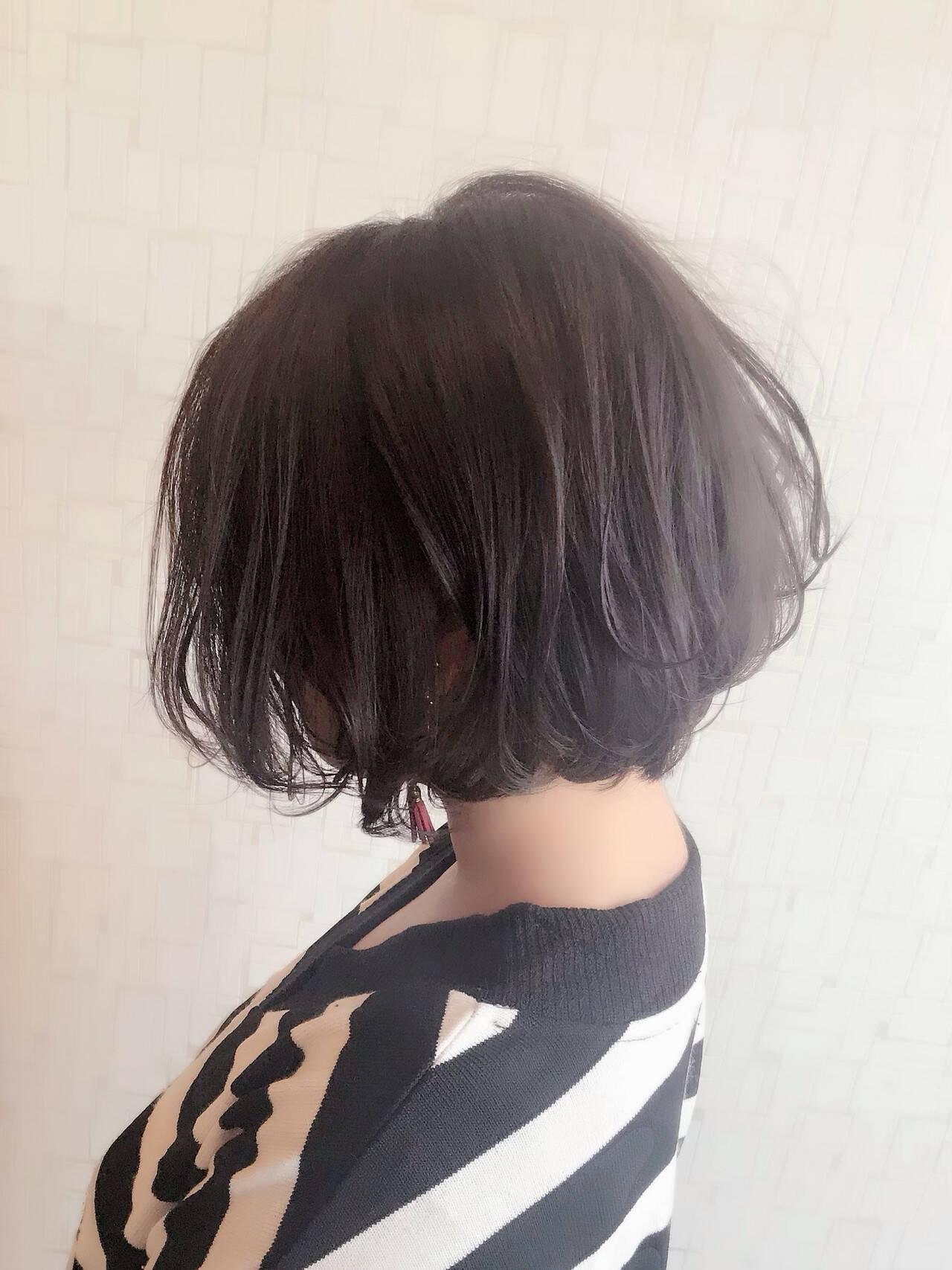 アンニュイ 抜け感 ゆるふわ ショートヘアスタイルや髪型の写真・画像