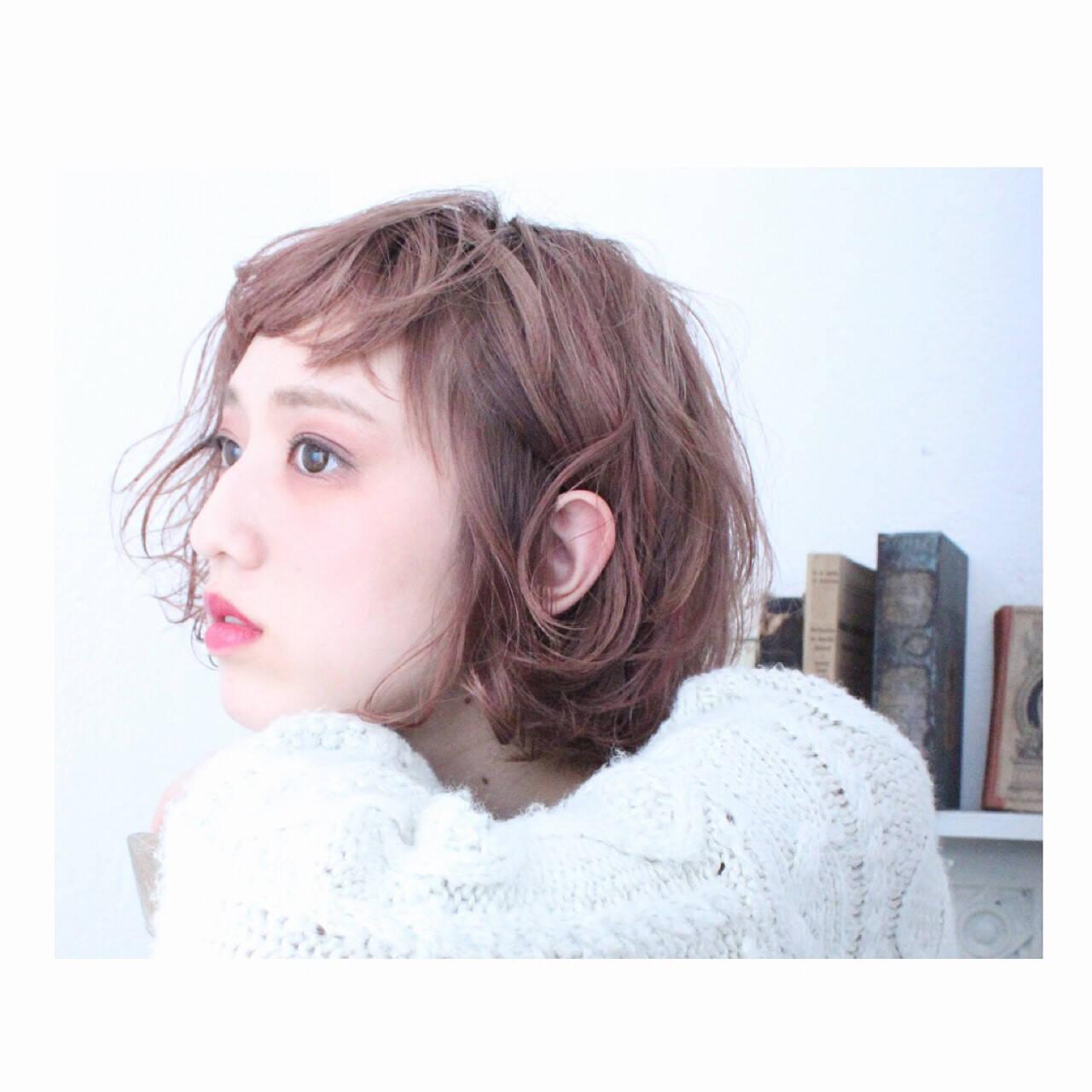 外国人風 色気 ボブ 冬ヘアスタイルや髪型の写真・画像