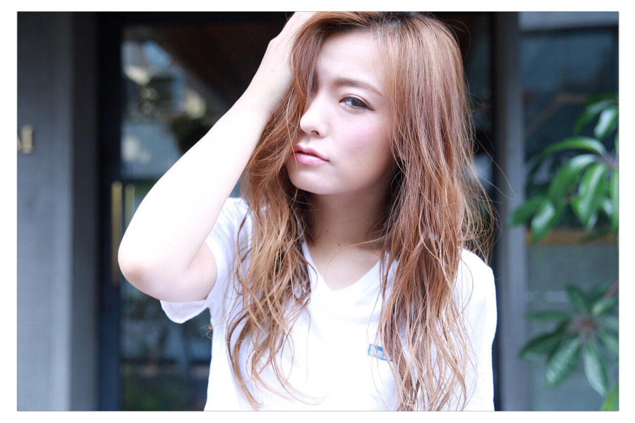アッシュ 外国人風 ロング ヘアアレンジヘアスタイルや髪型の写真・画像