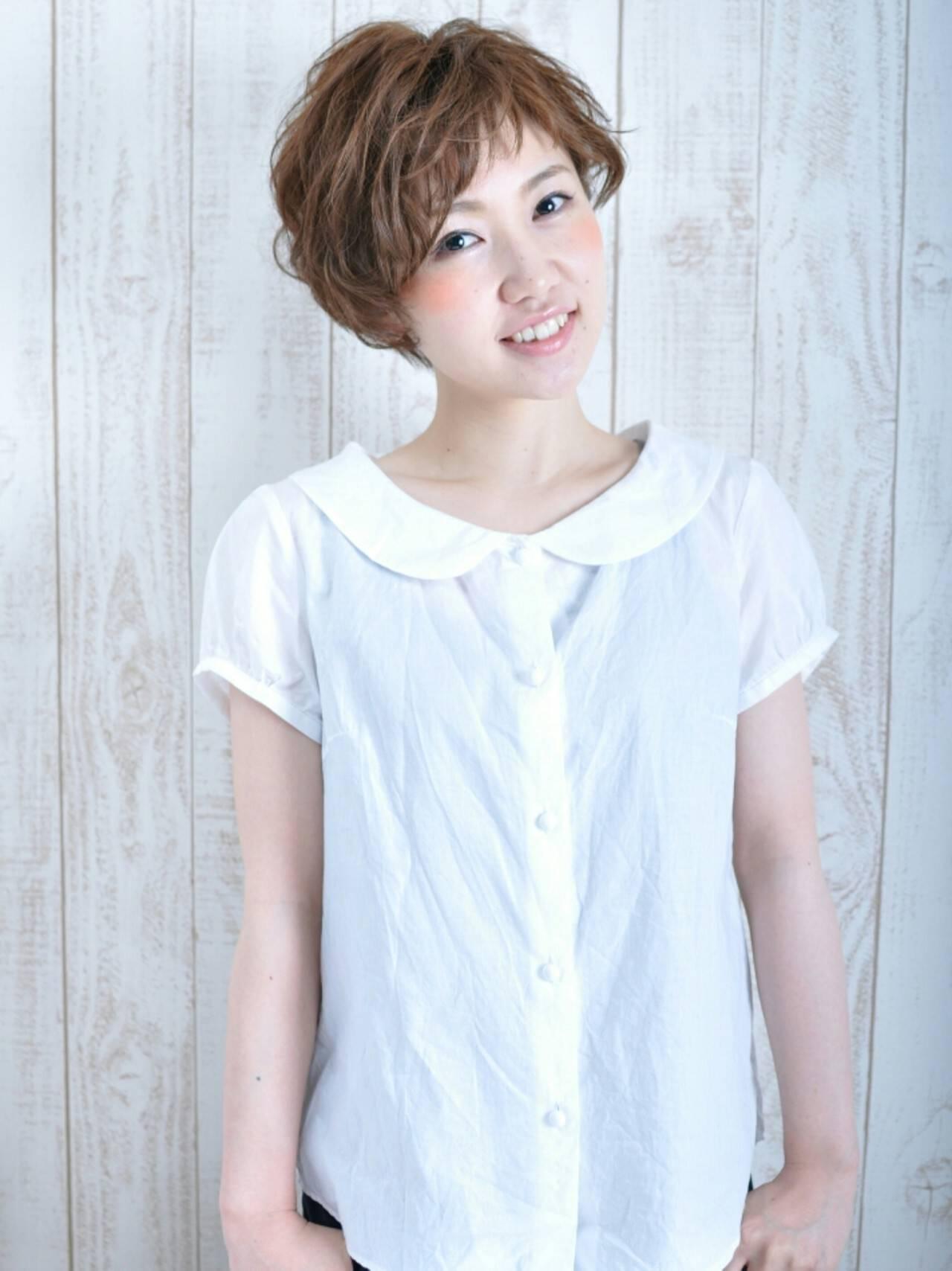 ベリーショート ショート ナチュラル かわいいヘアスタイルや髪型の写真・画像
