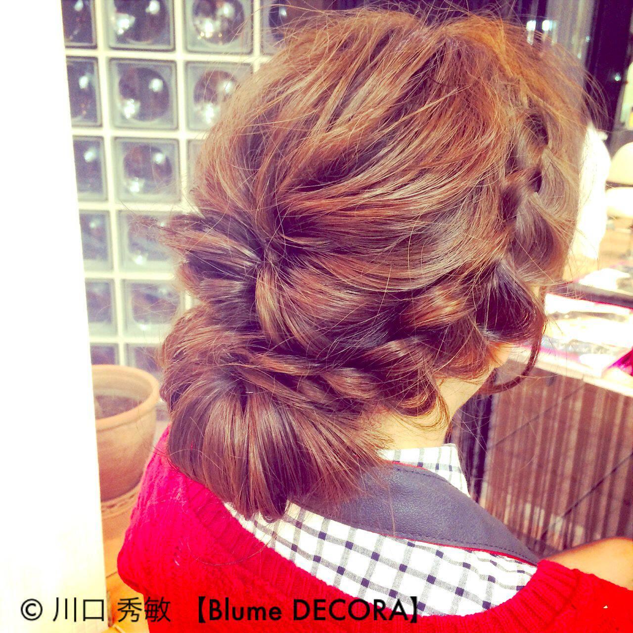 モテ髪 編み込み 愛され ヘアアレンジヘアスタイルや髪型の写真・画像