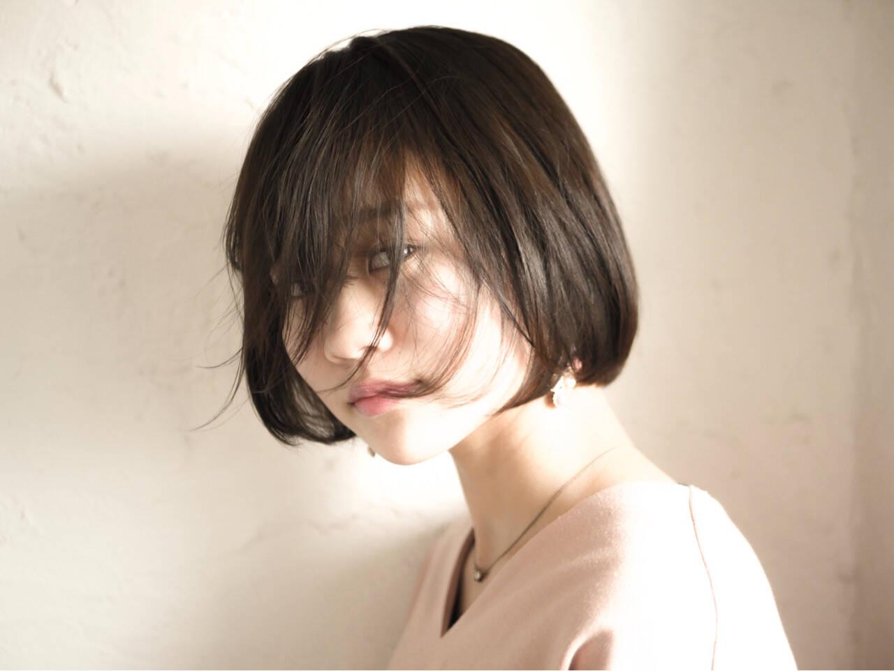 モード ボブヘアスタイルや髪型の写真・画像