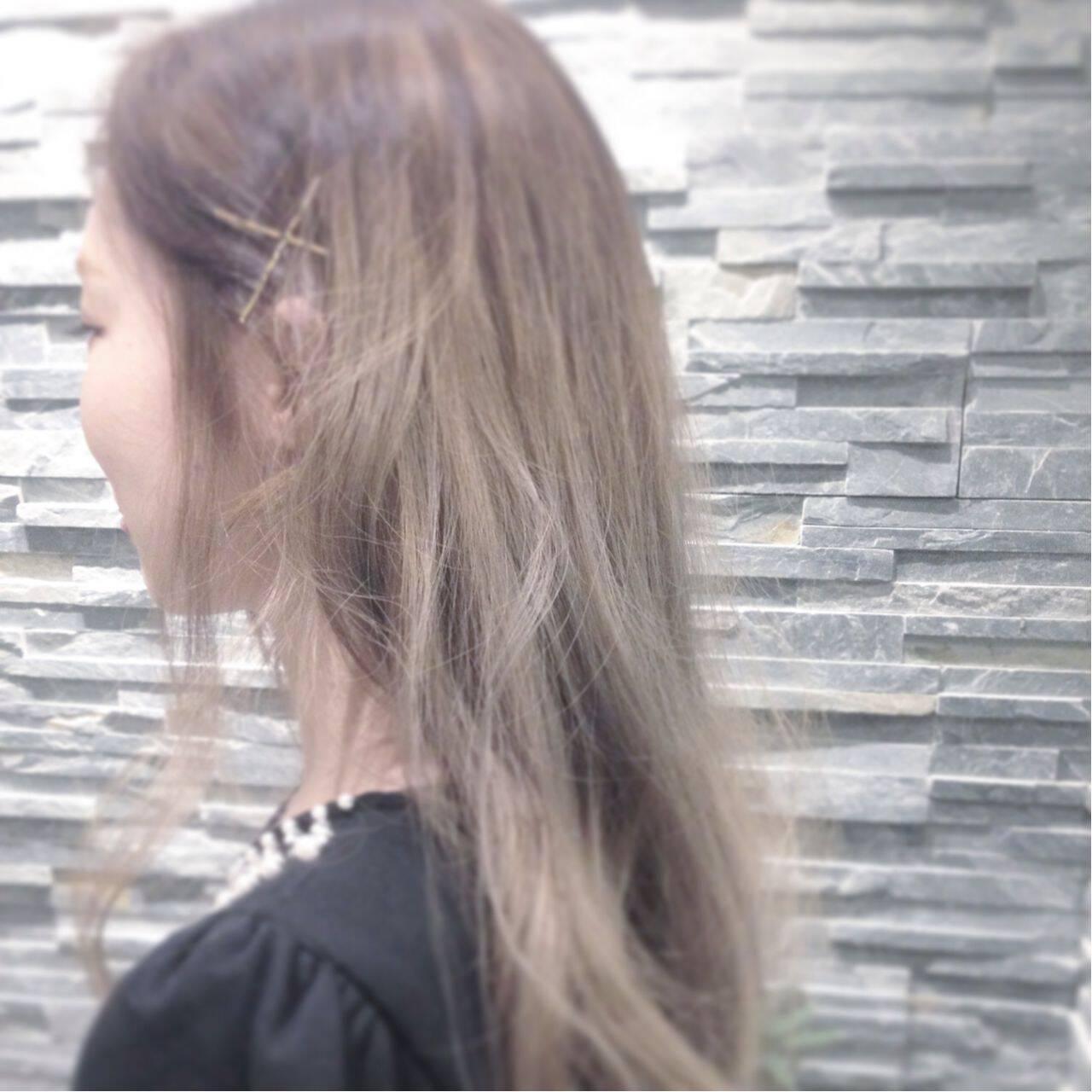 ストリート モテ髪 愛され ロングヘアスタイルや髪型の写真・画像