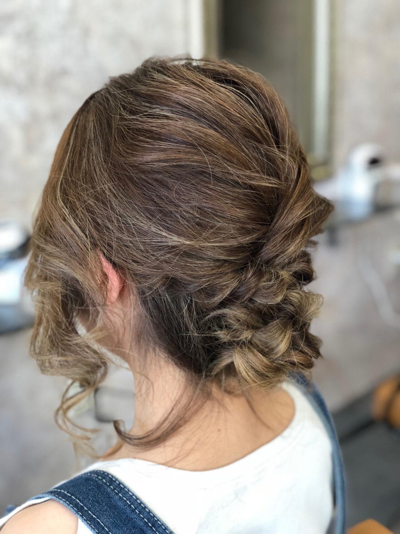 デート ナチュラル 結婚式 夏ヘアスタイルや髪型の写真・画像