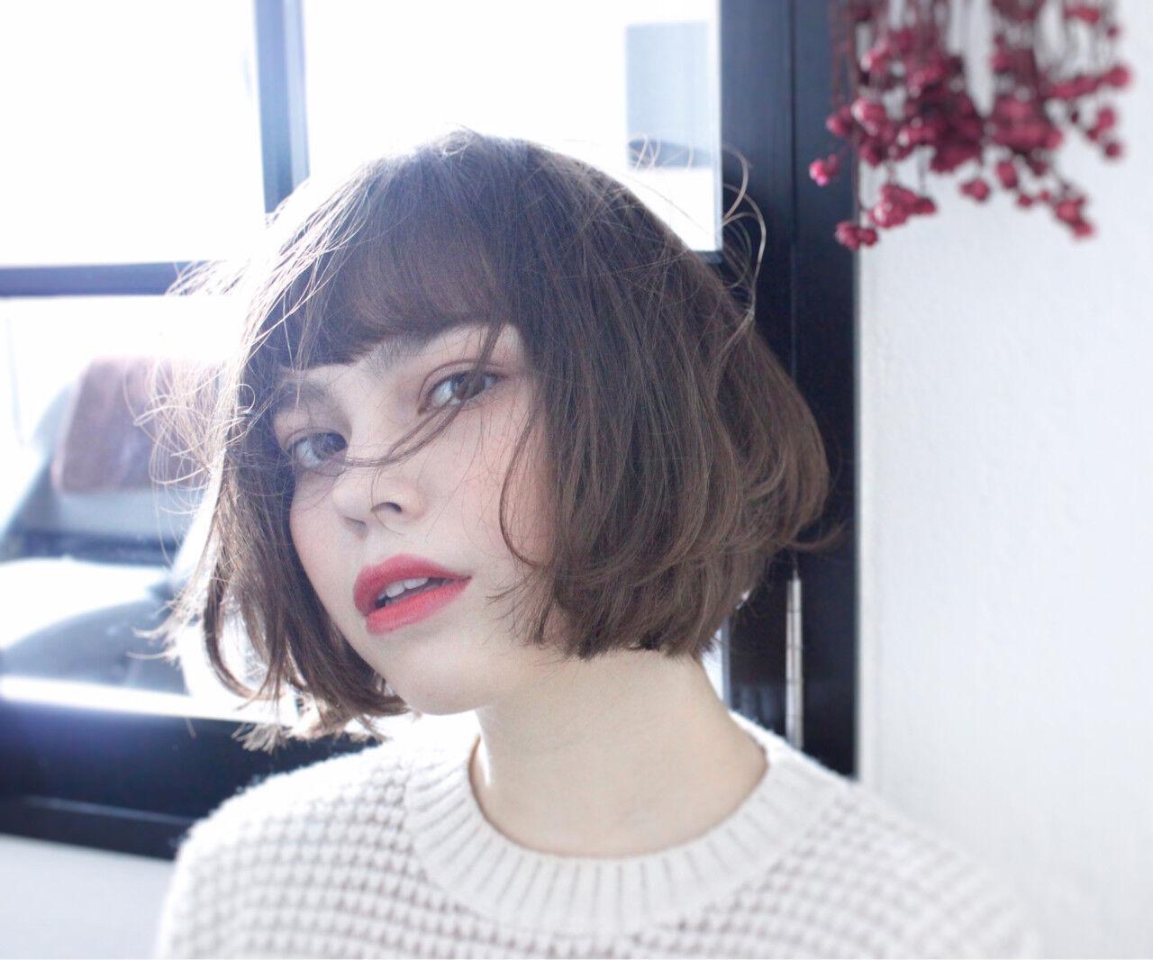 外国人風 こなれ感 色気 小顔ヘアスタイルや髪型の写真・画像