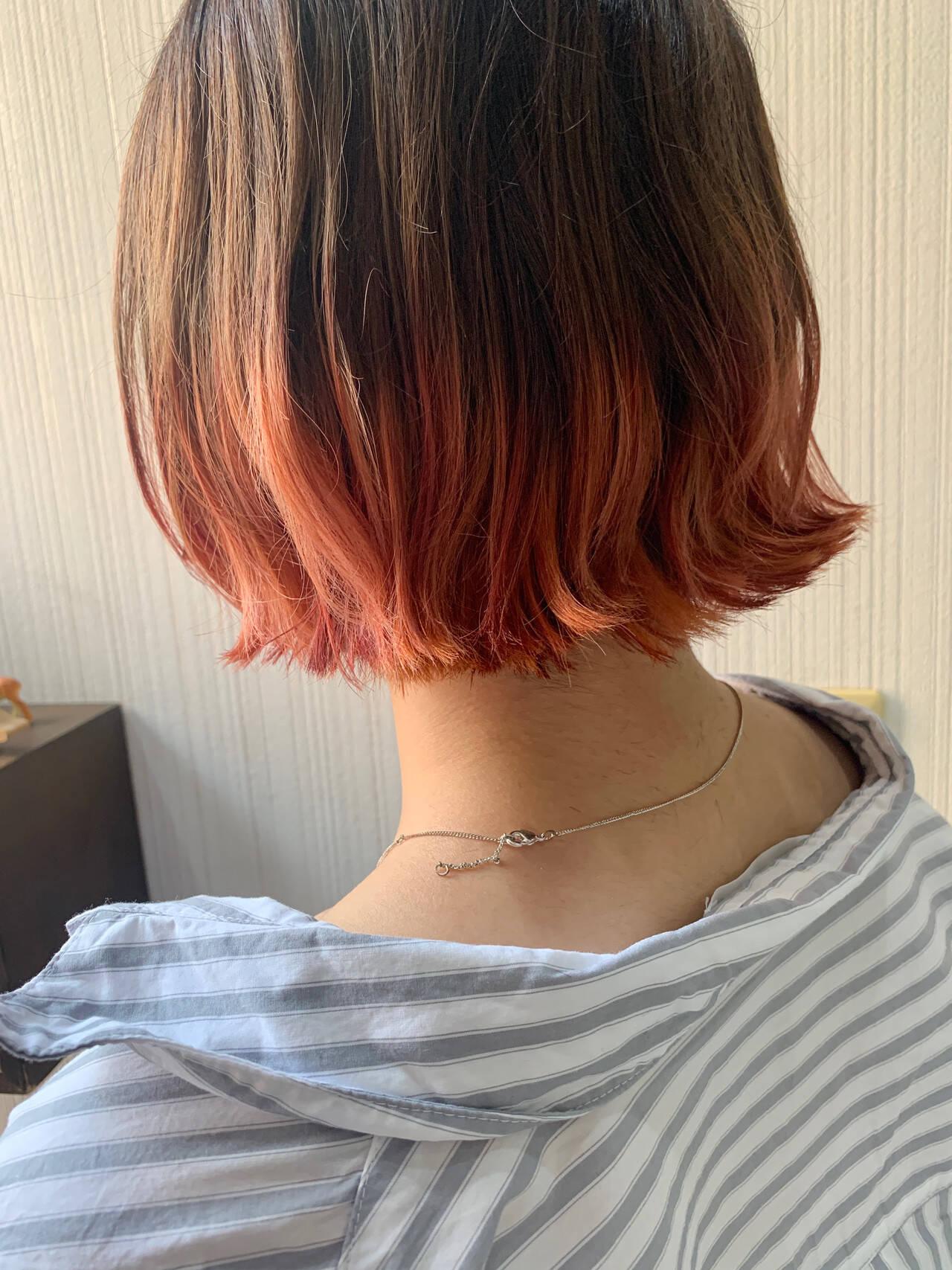 アンニュイほつれヘア オレンジ ゆるふわ ヘアアレンジヘアスタイルや髪型の写真・画像