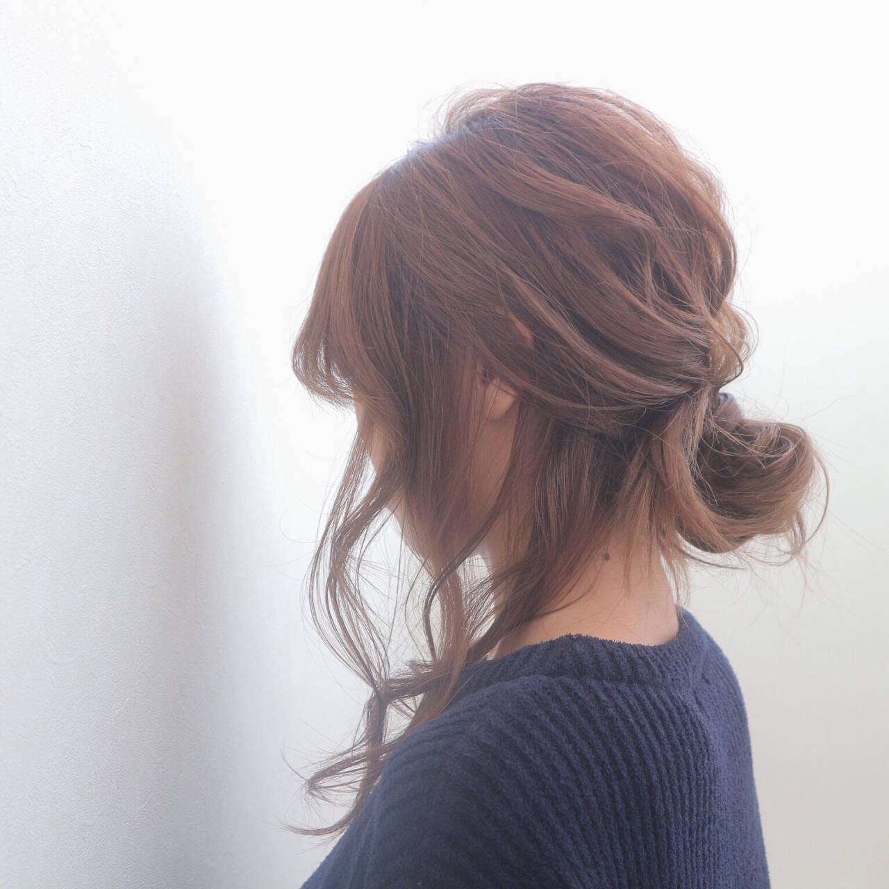 ヘアアレンジ ゆるふわ 前髪あり 外国人風ヘアスタイルや髪型の写真・画像
