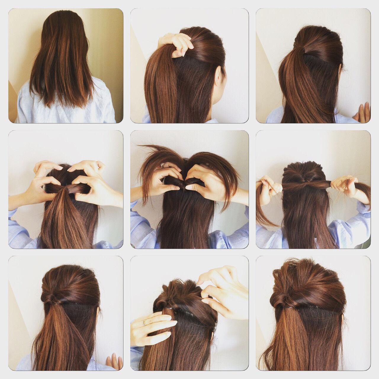 ポニーテール ヘアアレンジ 簡単ヘアアレンジ ショートヘアスタイルや髪型の写真・画像