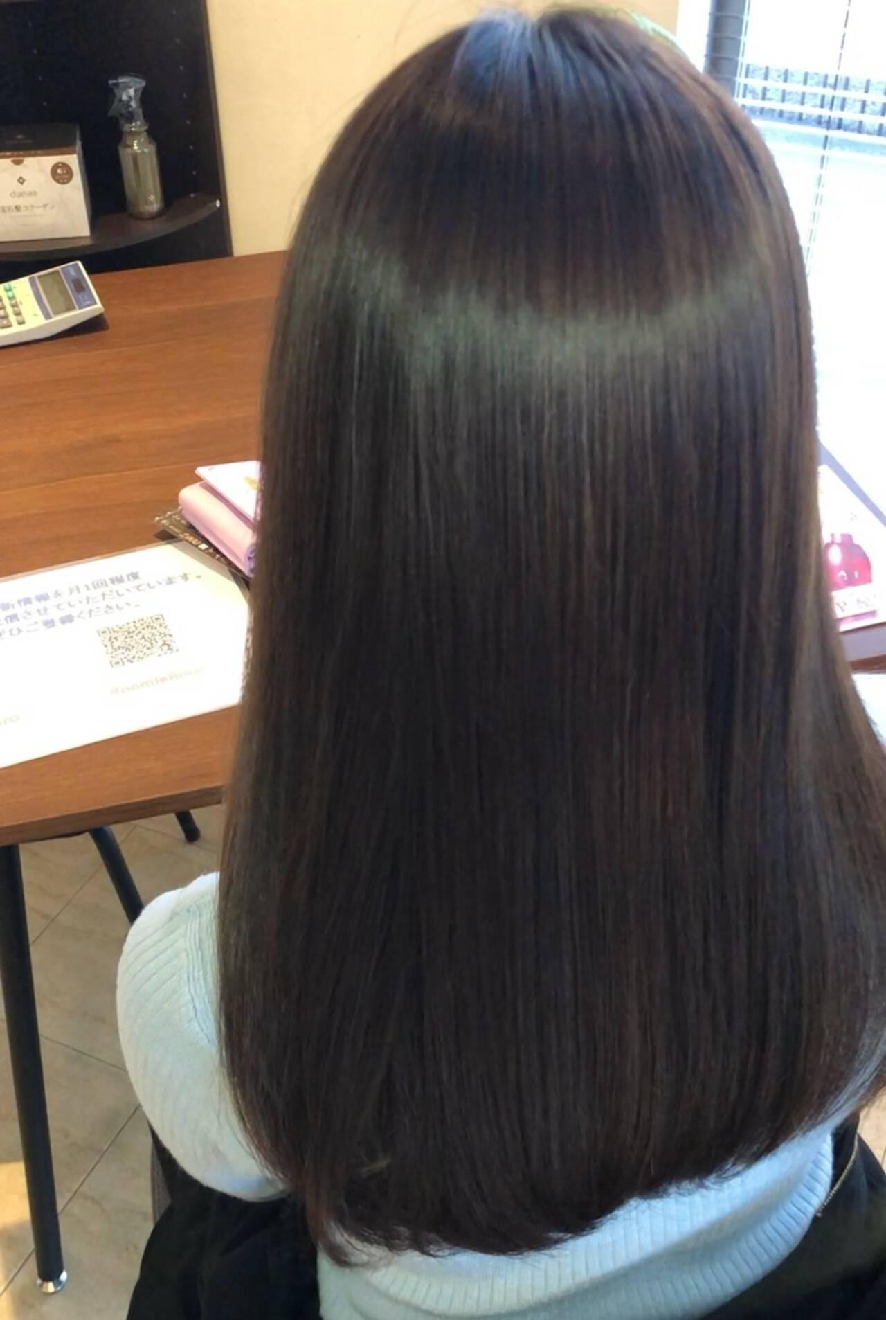 髪の病院 髪質改善 ロング 頭皮ケアヘアスタイルや髪型の写真・画像