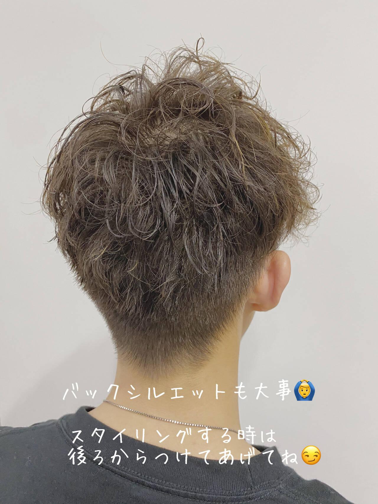 メンズ メンズヘア ナチュラル ショートヘアスタイルや髪型の写真・画像
