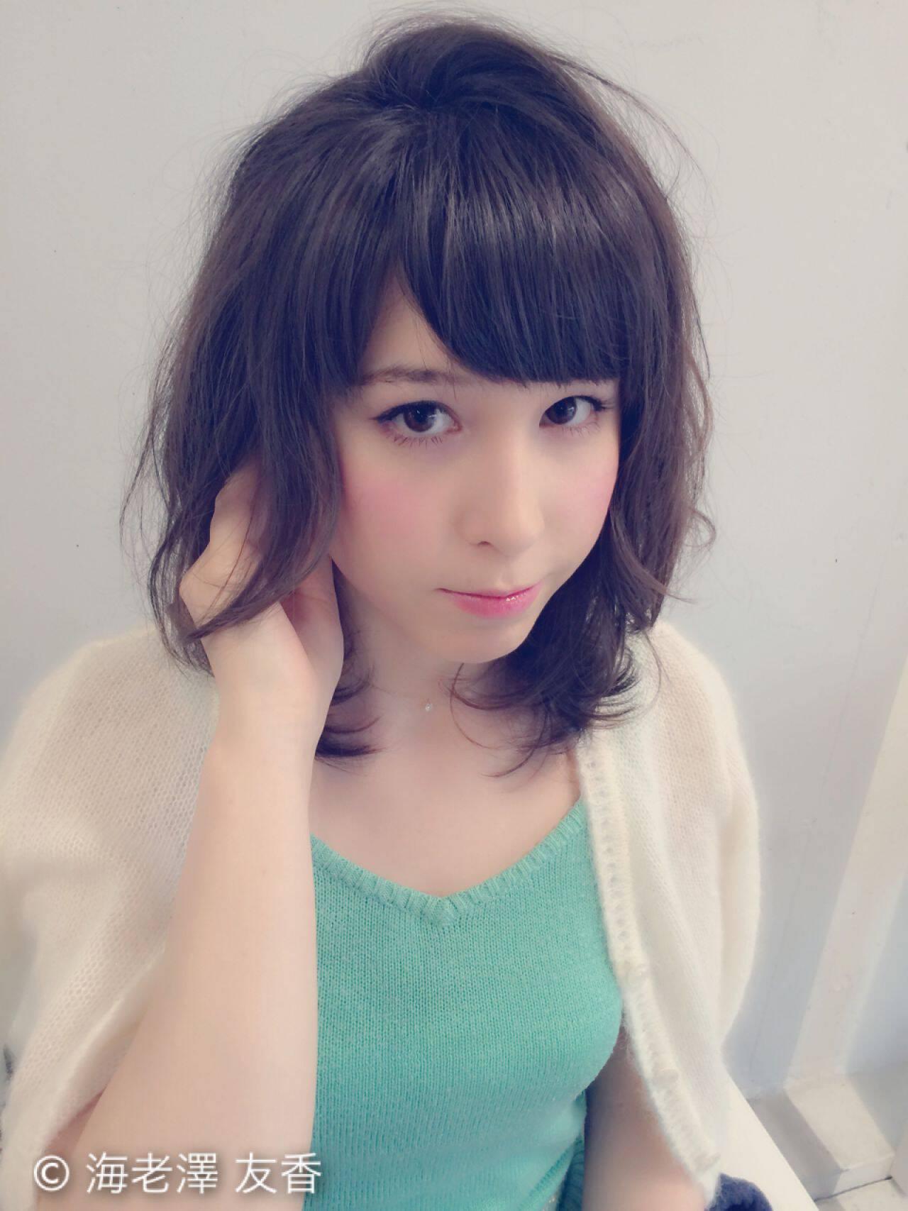 モテ髪 フェミニン ショート ボブヘアスタイルや髪型の写真・画像