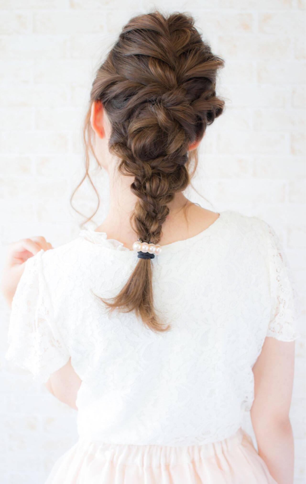 フェミニン ナチュラル 簡単ヘアアレンジ ショートヘアスタイルや髪型の写真・画像