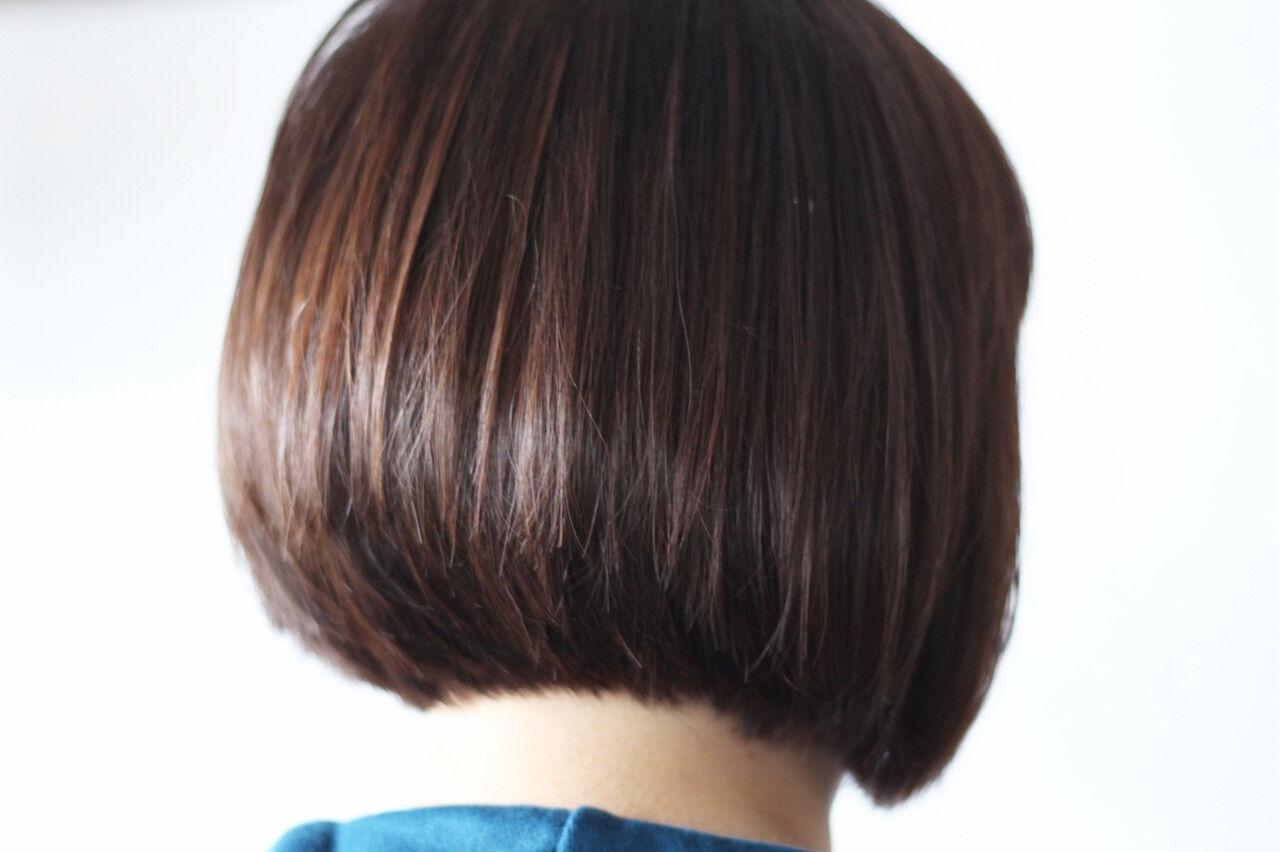 ロブ ナチュラル ショートボブ 田中美保ヘアスタイルや髪型の写真・画像