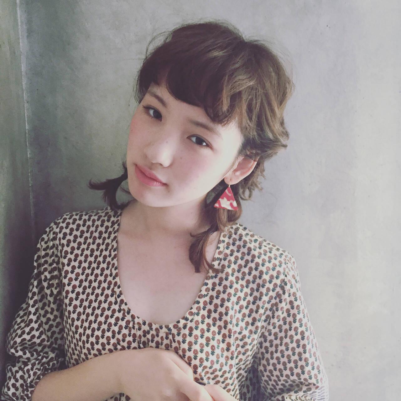ガーリー ミディアム 簡単ヘアアレンジ ヘアアレンジヘアスタイルや髪型の写真・画像