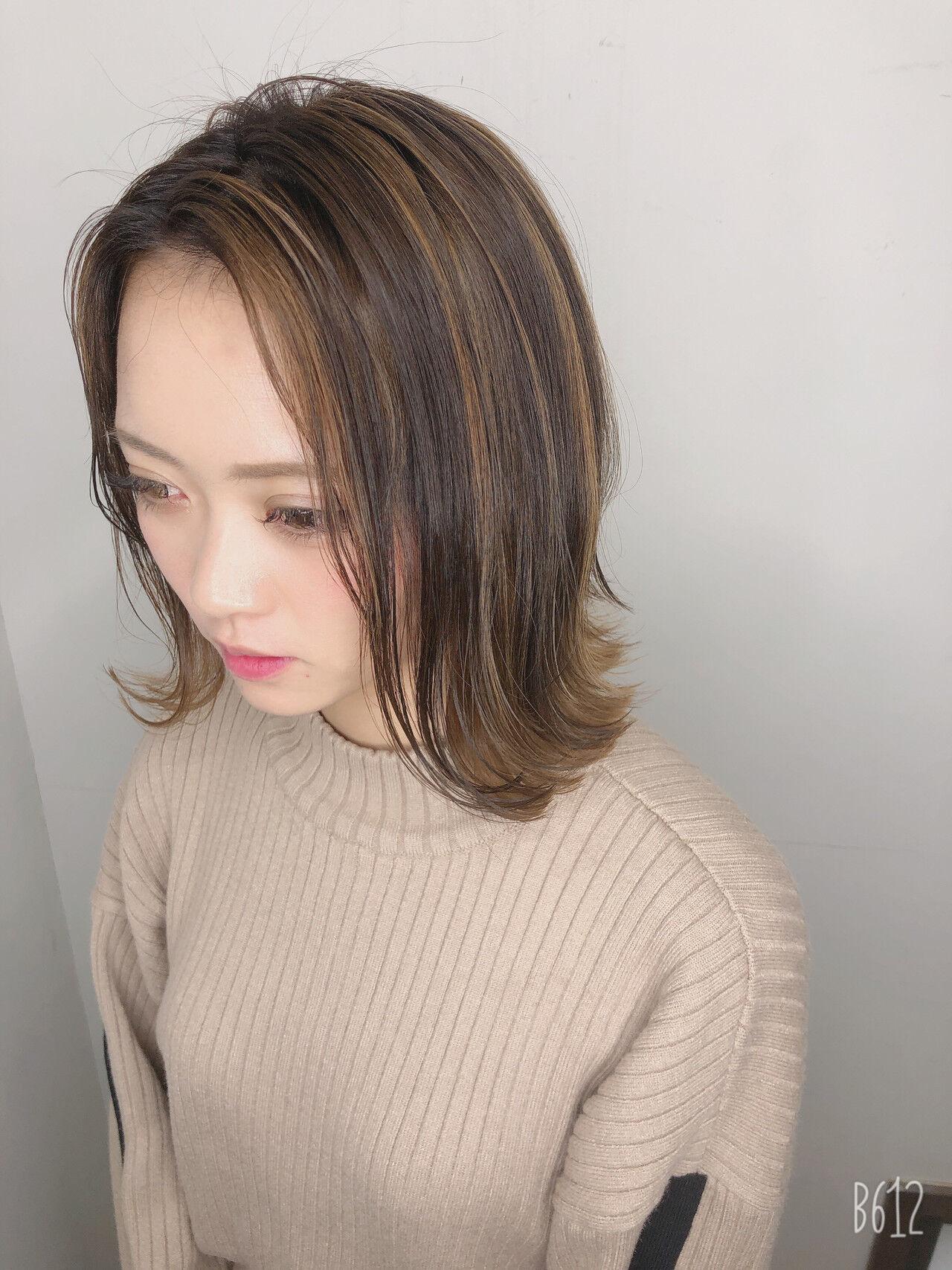ボブ 透明感カラー 外国人風カラー ダブルカラーヘアスタイルや髪型の写真・画像
