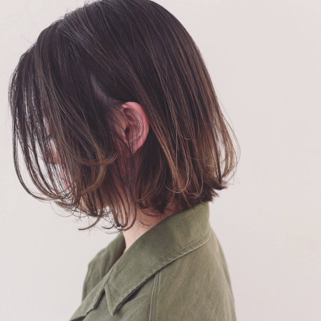 抜け感 ボブ リラックス 外ハネヘアスタイルや髪型の写真・画像