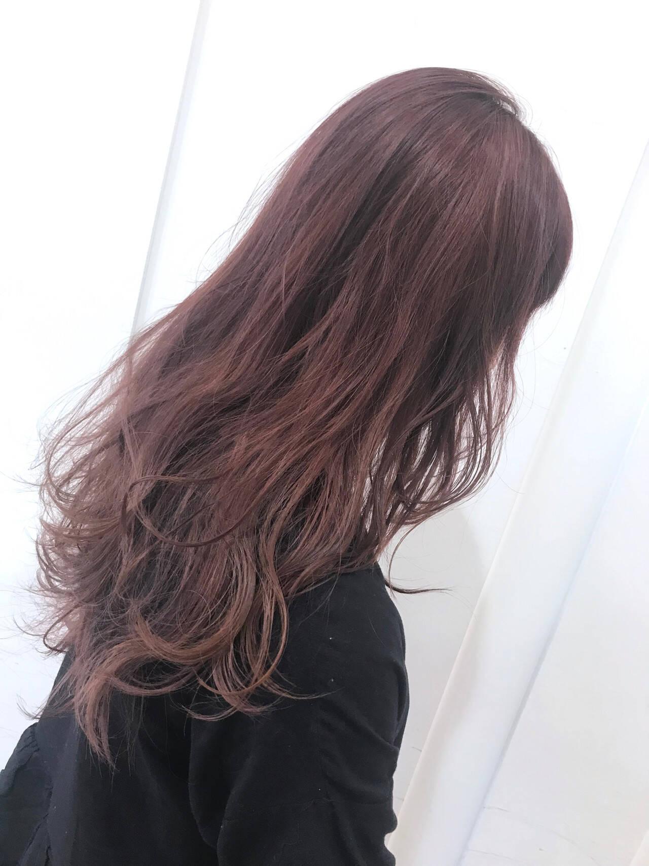 ダブルカラー ロング ハイトーンカラー グラデーションカラーヘアスタイルや髪型の写真・画像