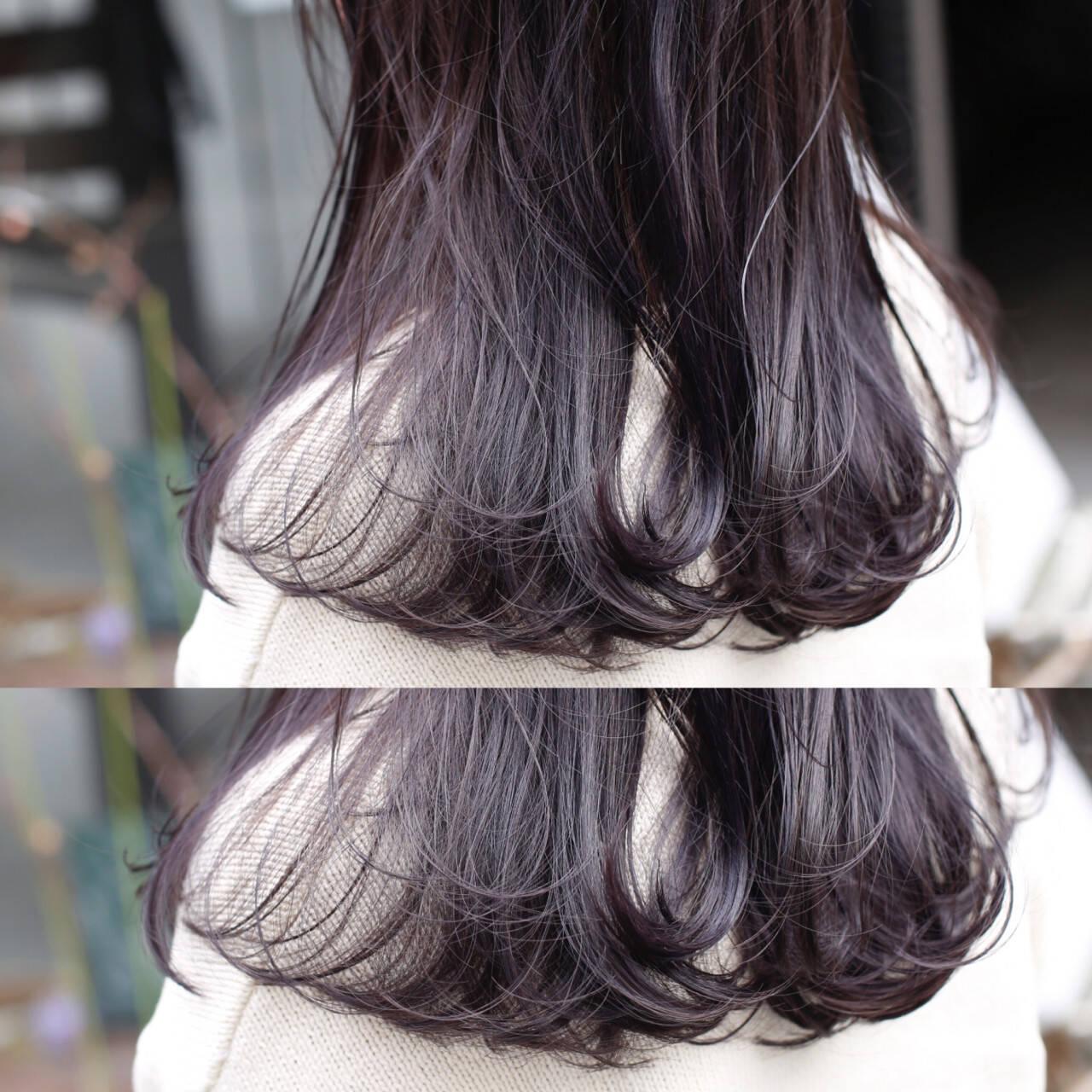 ミディアム ストリート ブリーチ グラデーションカラーヘアスタイルや髪型の写真・画像