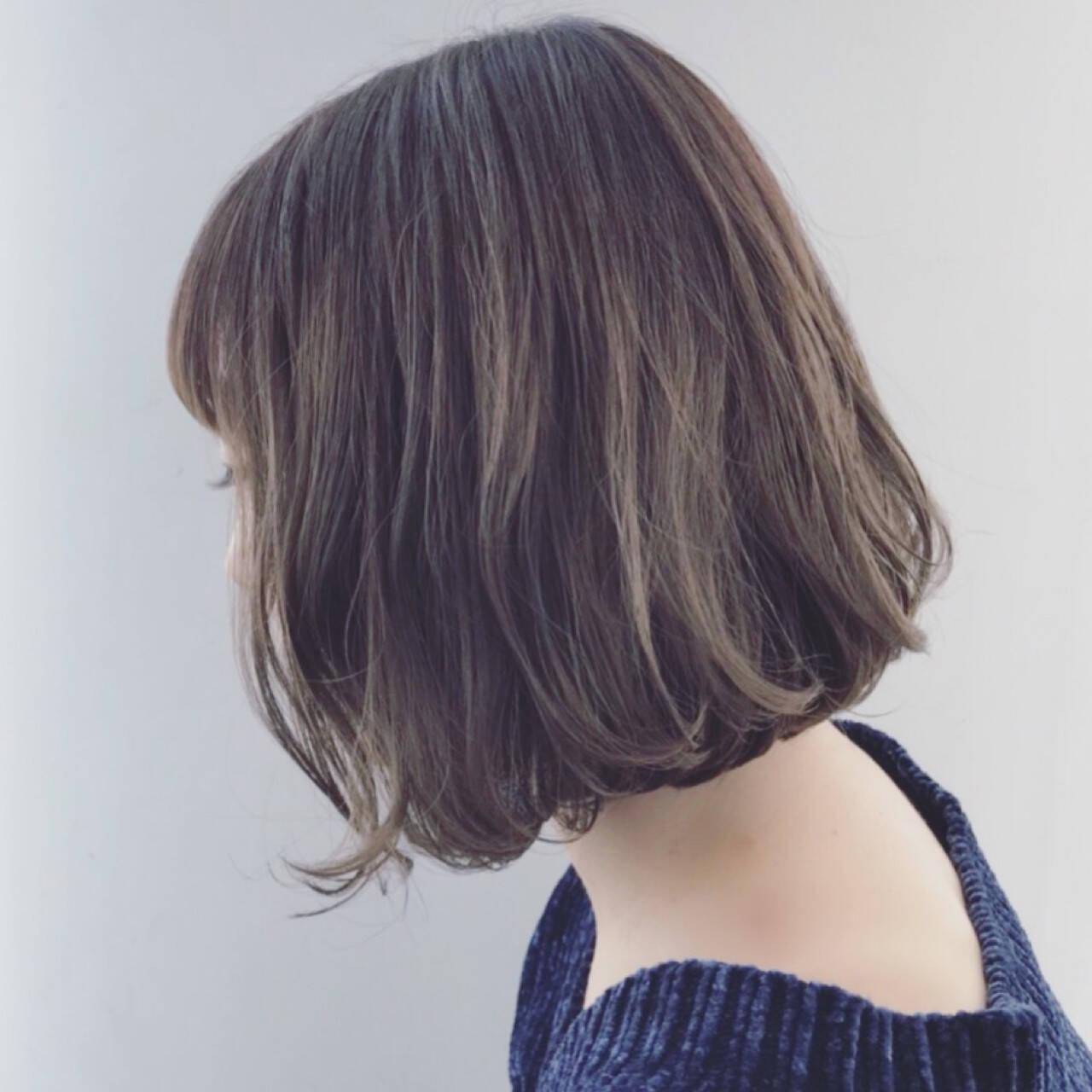 外国人風 ボブ 外国人風カラー ハイライトヘアスタイルや髪型の写真・画像