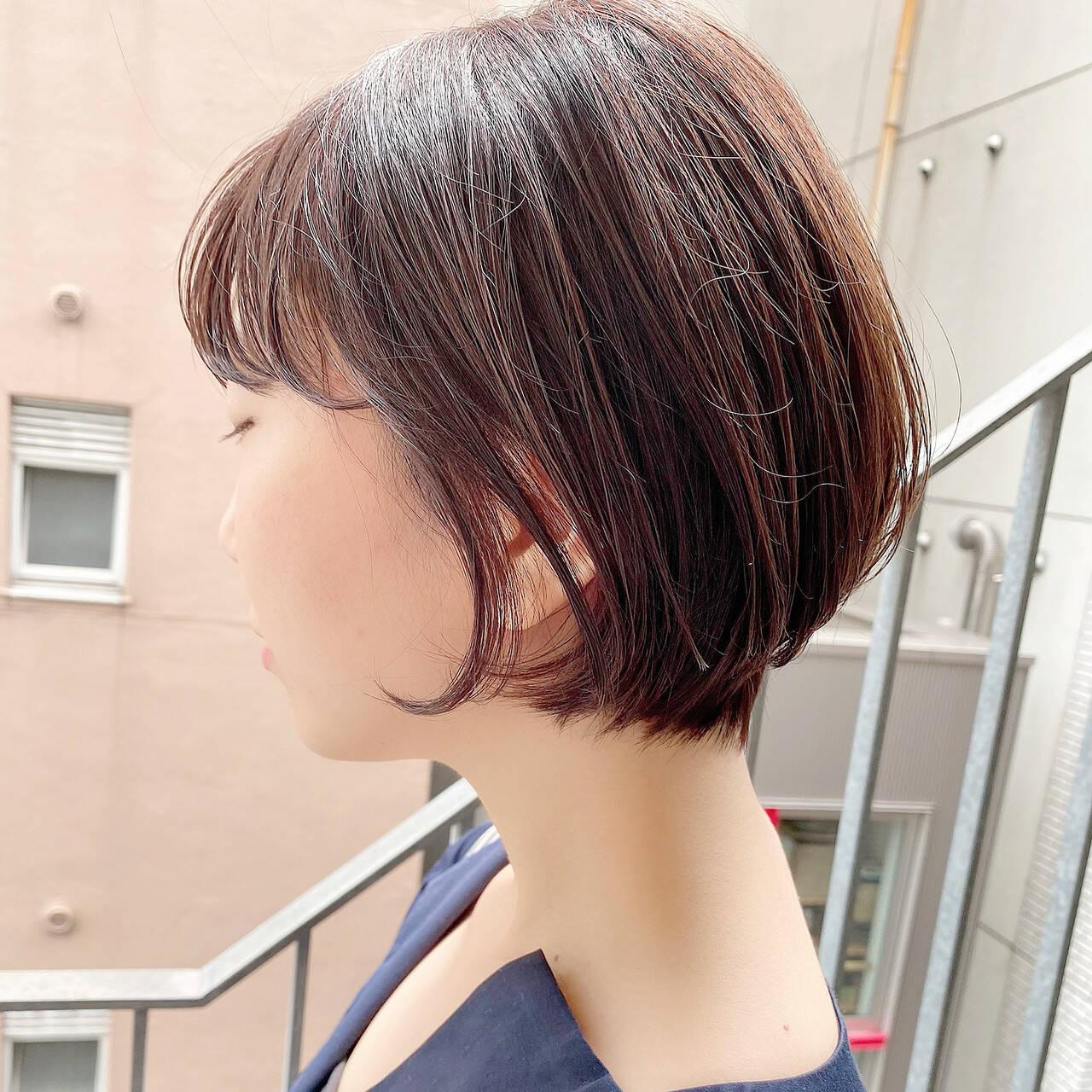 ショートヘア ショートボブ 大人かわいい ショートヘアスタイルや髪型の写真・画像