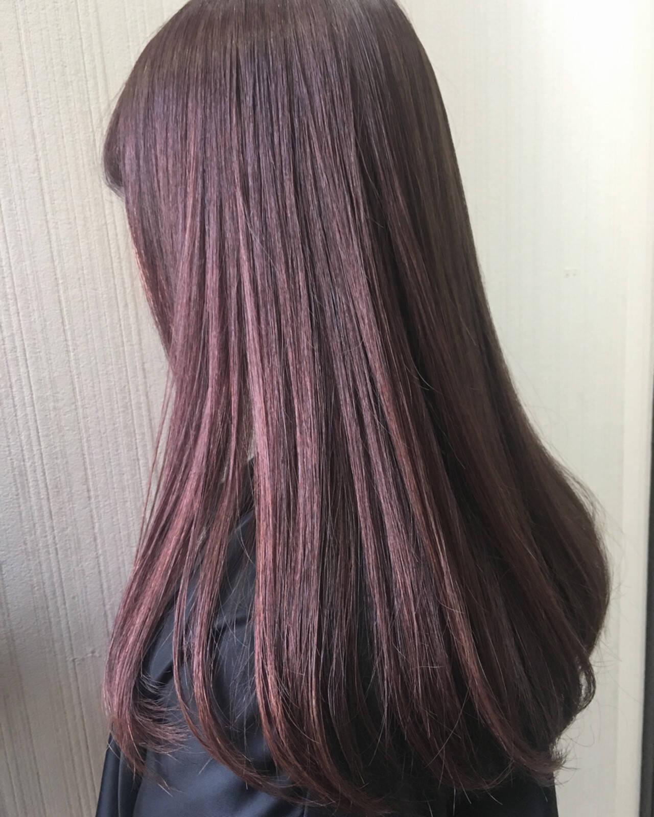 ミディアム ガーリー ベージュ ピンクヘアスタイルや髪型の写真・画像