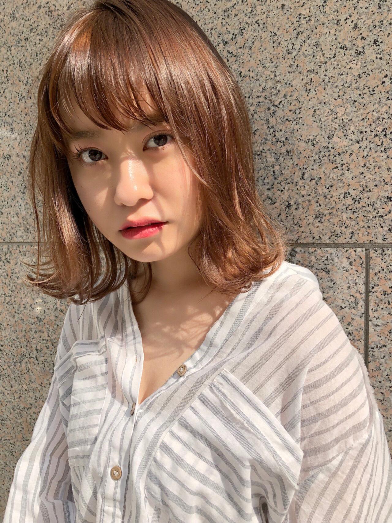 愛され アンニュイ 外ハネ ミディアムヘアスタイルや髪型の写真・画像