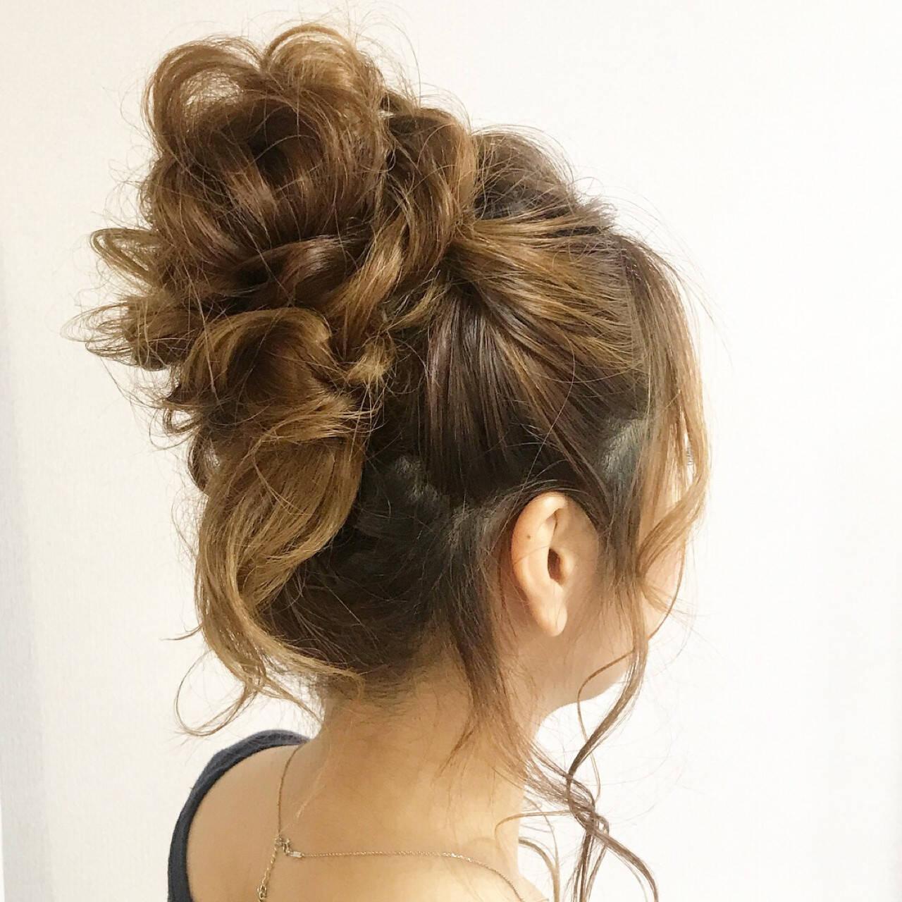 セミロング 夏 ヘアアレンジ 涼しげヘアスタイルや髪型の写真・画像