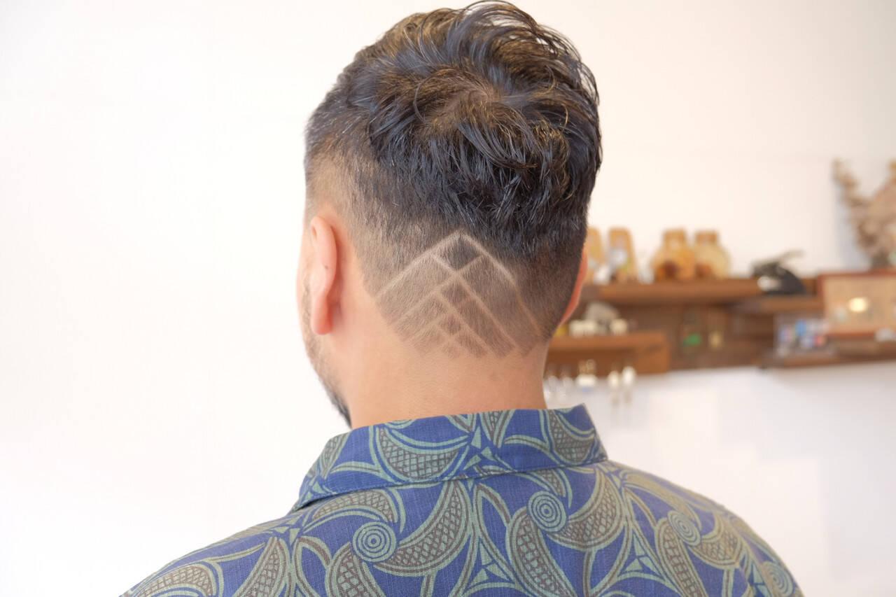 ツーブロック モード ショート 刈り上げヘアスタイルや髪型の写真・画像