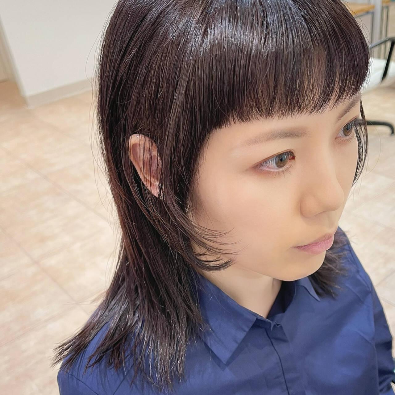 姫カット レイヤー モード 前髪パッツンヘアスタイルや髪型の写真・画像