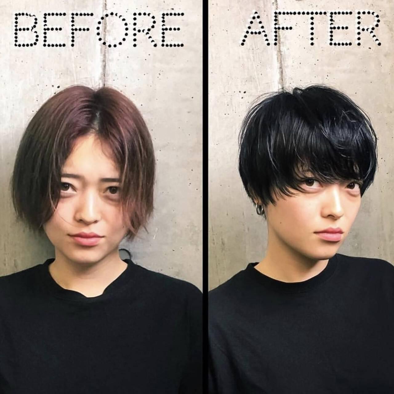 ショート マッシュショート マッシュ ショートヘアヘアスタイルや髪型の写真・画像