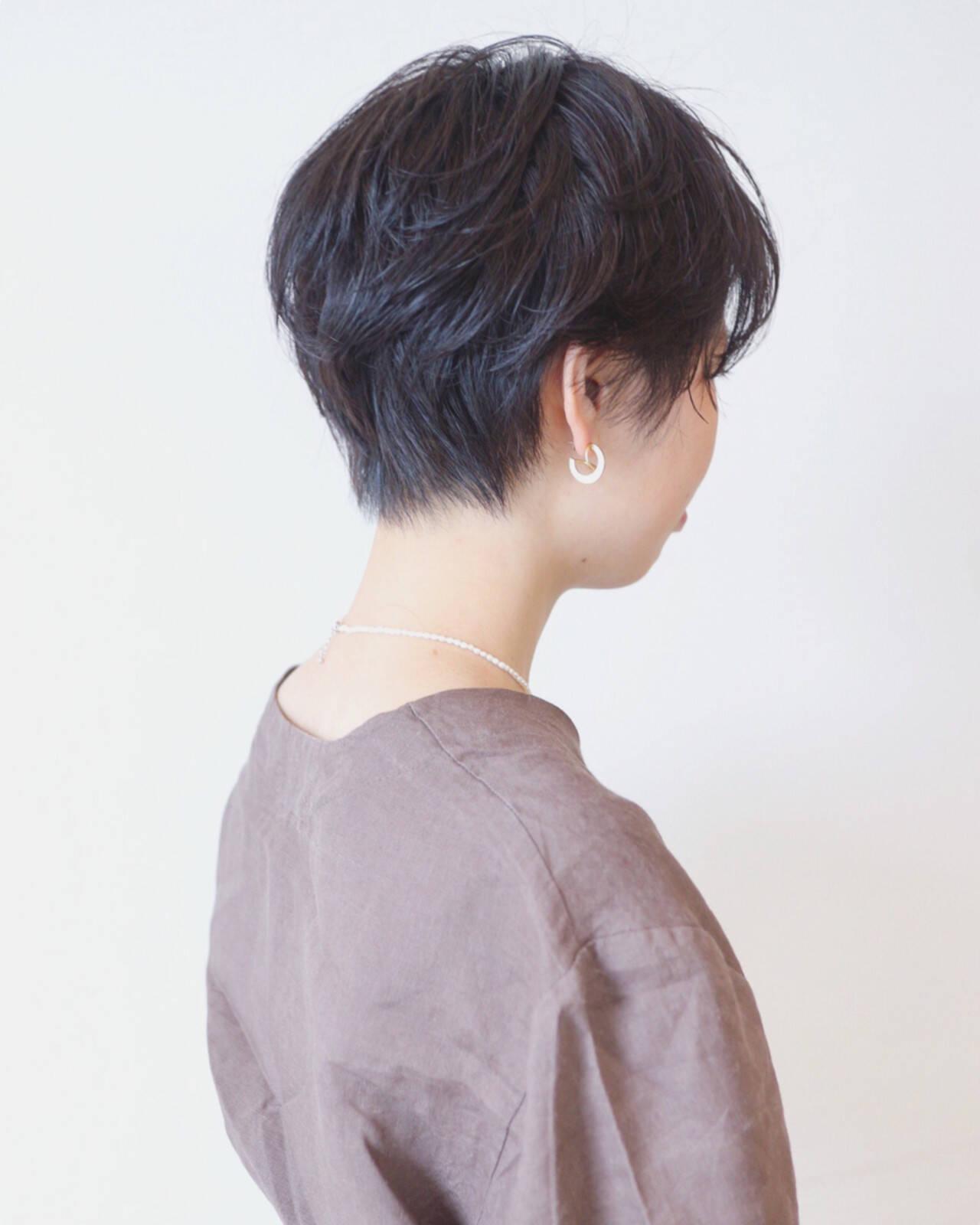 ボブ 黒髪 パーマ ナチュラルヘアスタイルや髪型の写真・画像