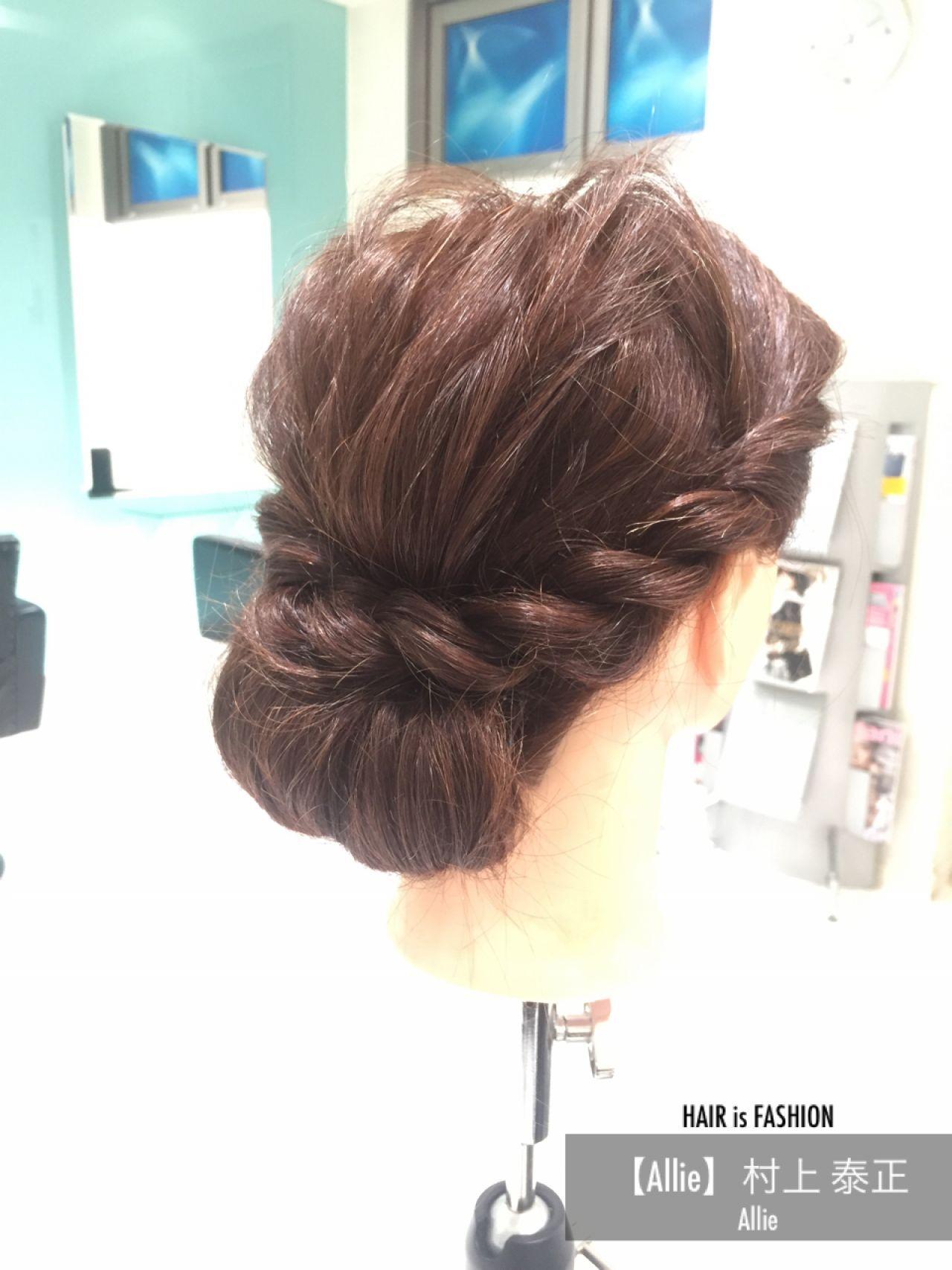 ゆるふわ セミロング ショート 簡単ヘアアレンジヘアスタイルや髪型の写真・画像