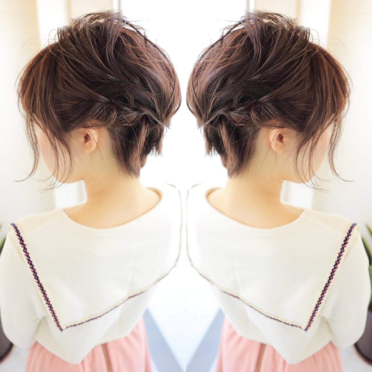 学校 フェミニン ボブ パーティヘアスタイルや髪型の写真・画像