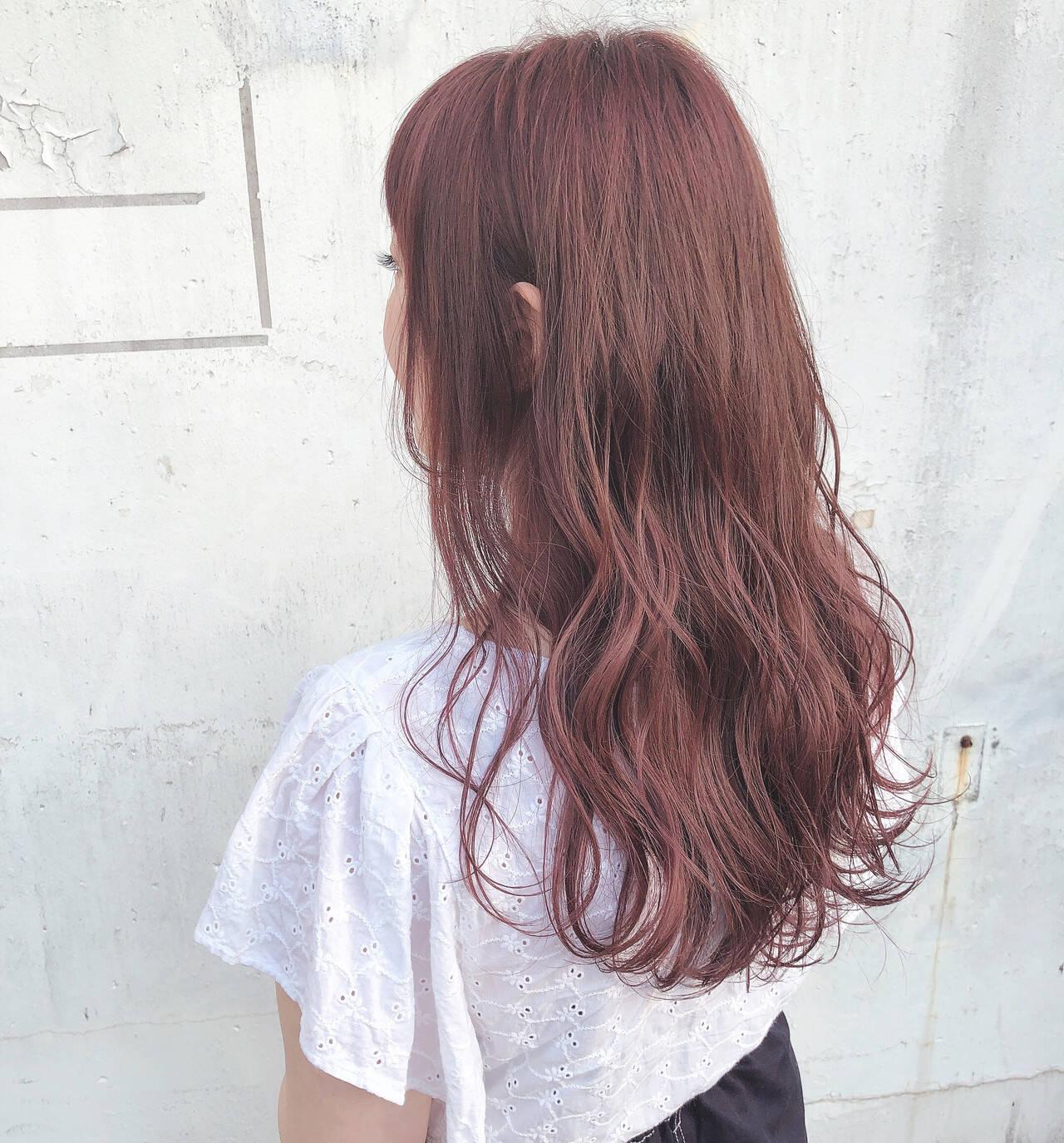 ゆるふわ かわいい ラベンダーアッシュ ロングヘアスタイルや髪型の写真・画像