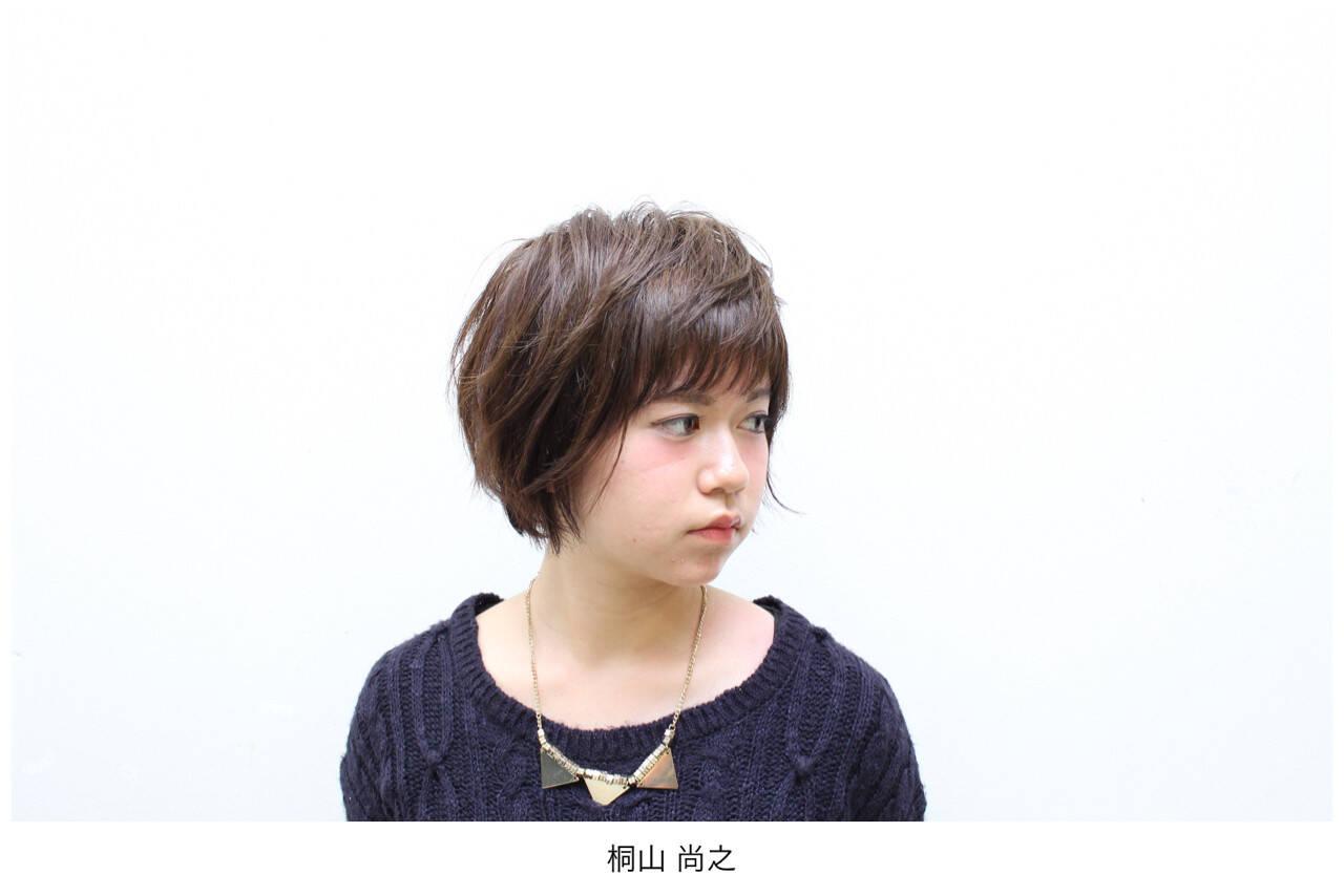 暗髪 似合わせ ショート 秋ヘアスタイルや髪型の写真・画像