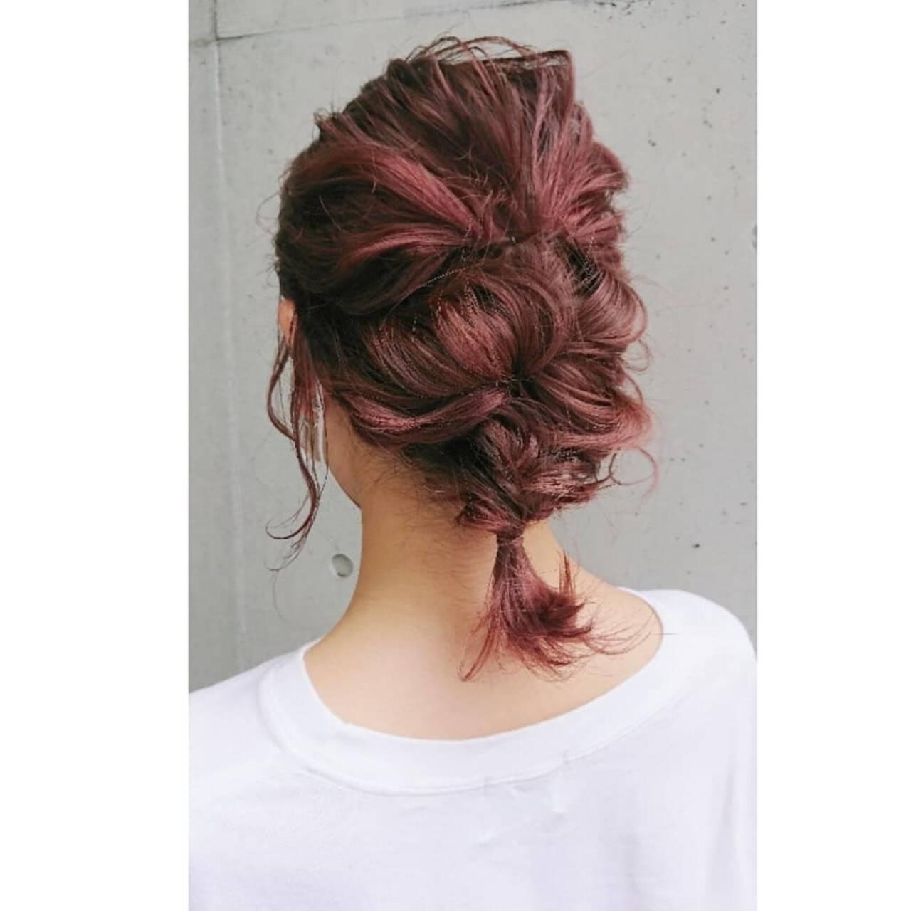 ナチュラル 結婚式ヘアアレンジ 編み込み 簡単ヘアアレンジヘアスタイルや髪型の写真・画像